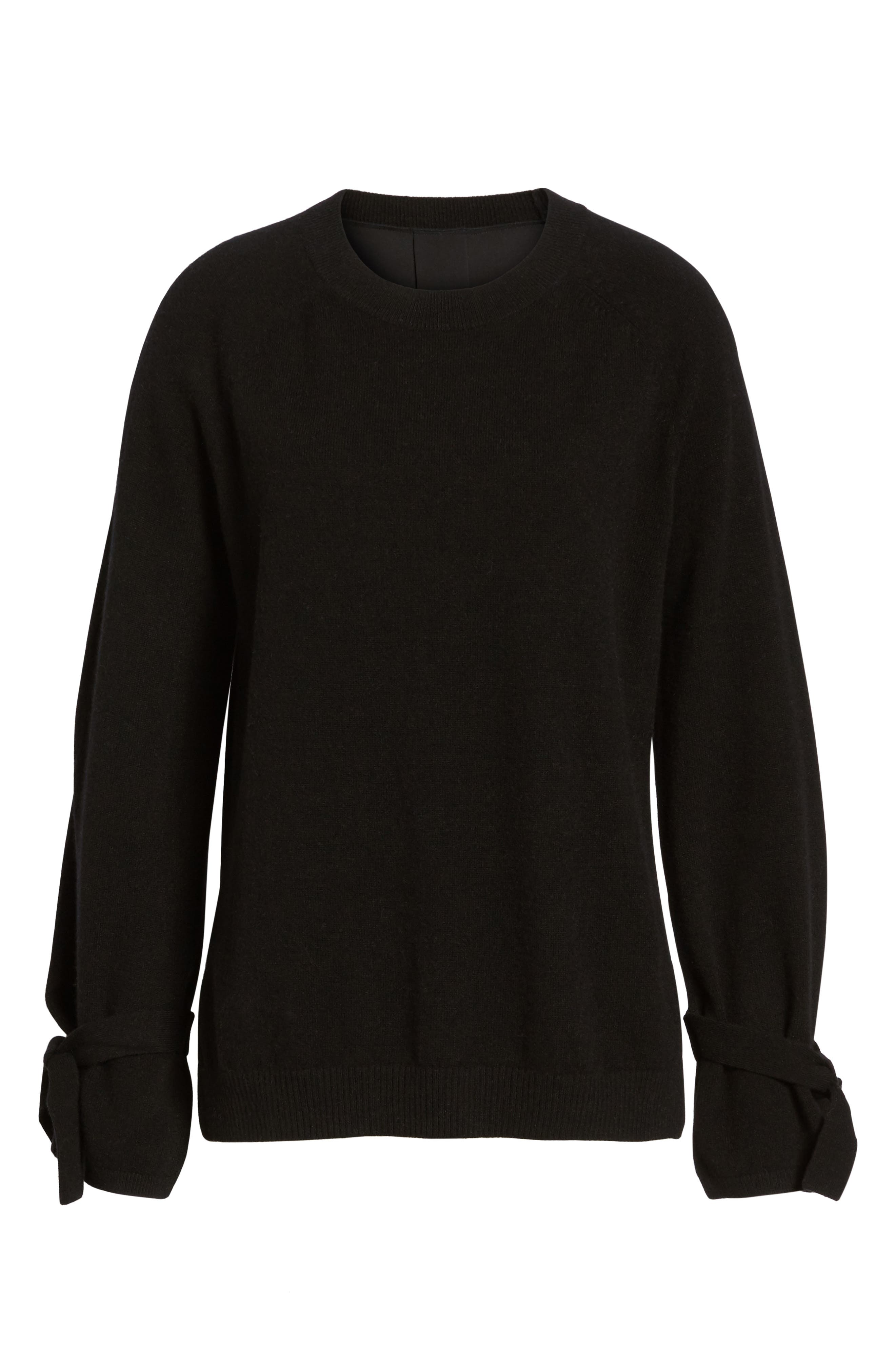Alternate Image 6  - Nordstrom Signature Cashmere & Stretch Silk Pullover