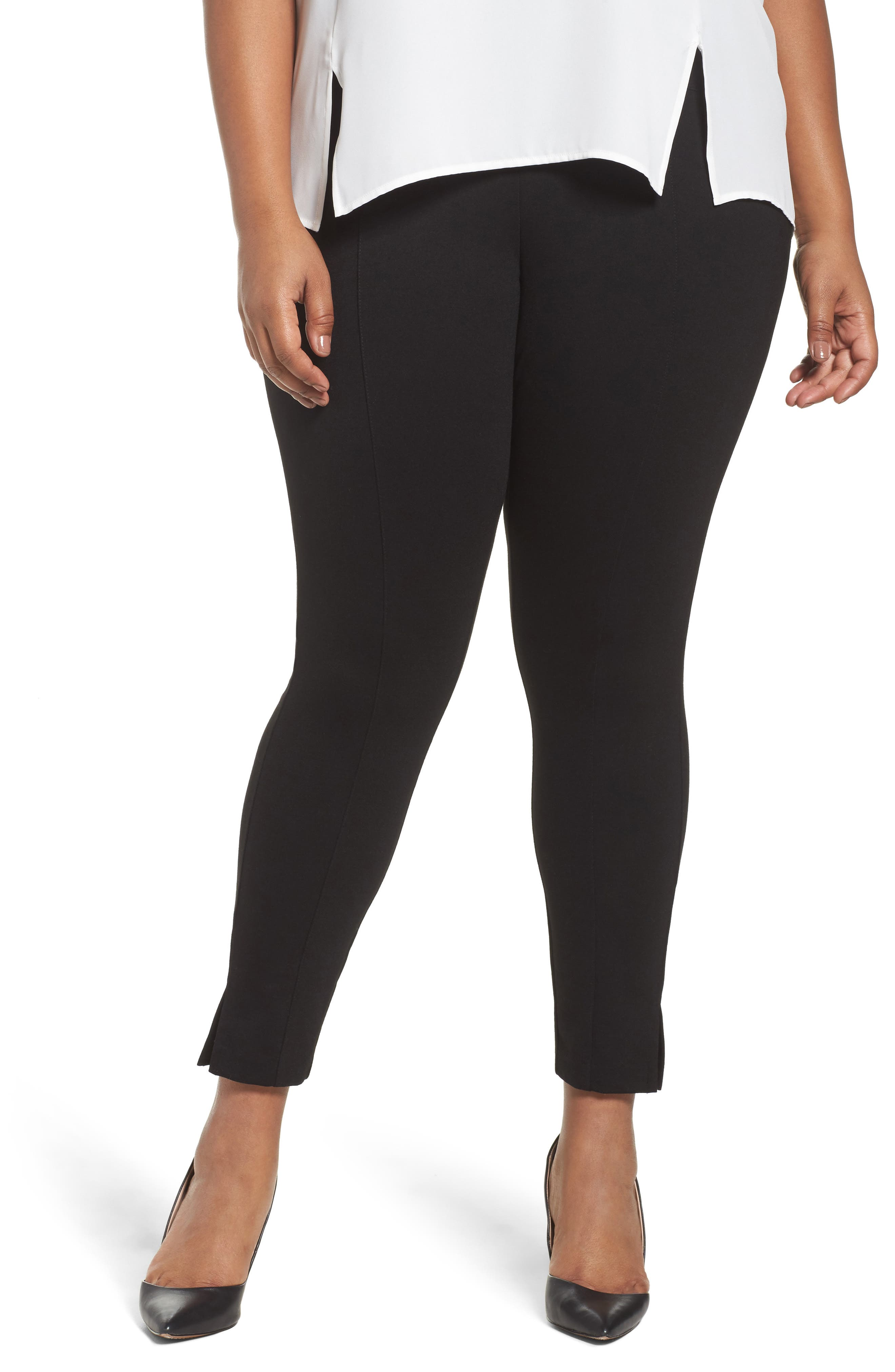 Seamed Leggings,                         Main,                         color, Black