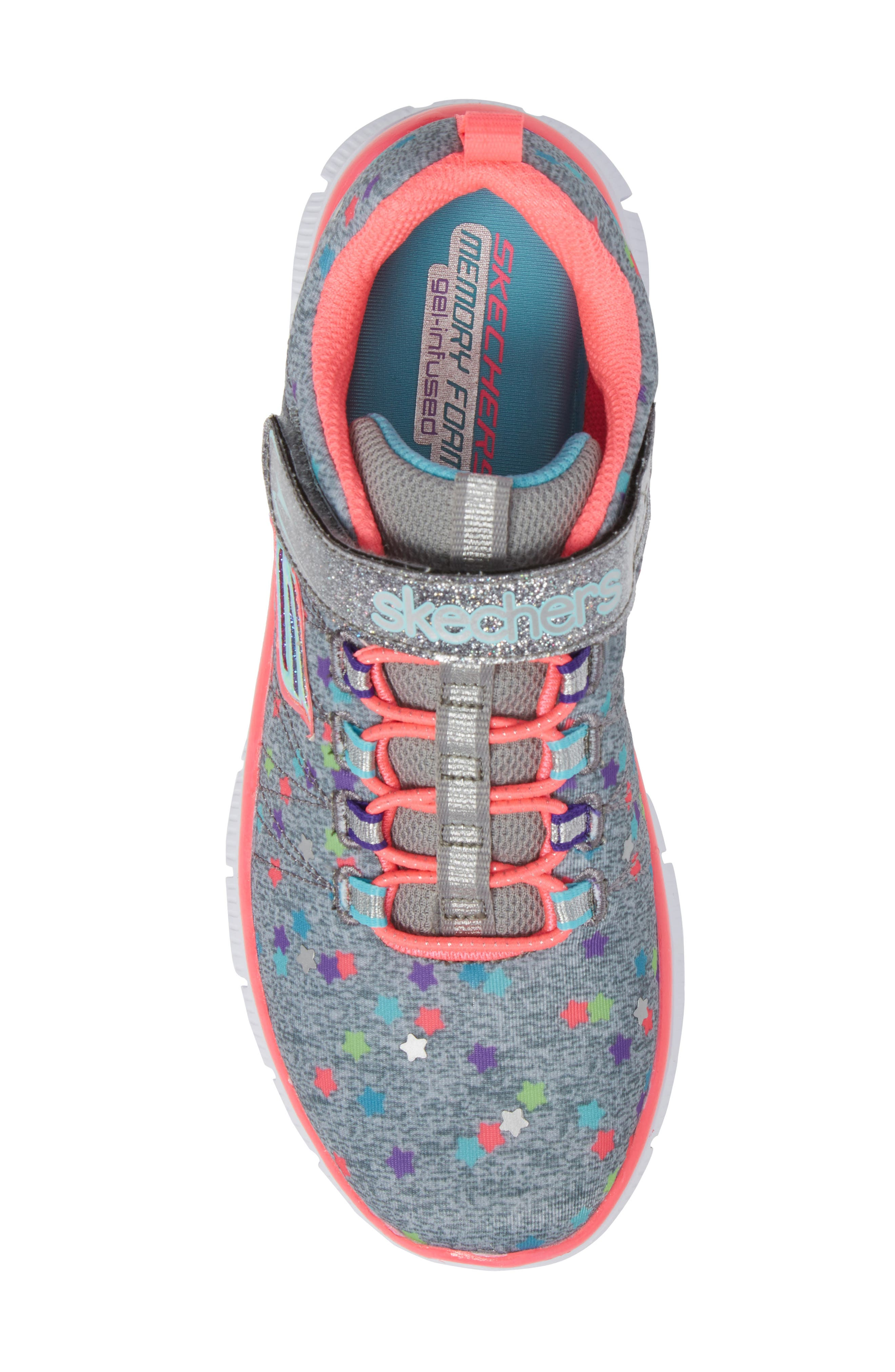 Skech Appeal Star Spirit Sneaker,                             Alternate thumbnail 5, color,                             Grey/ Multi