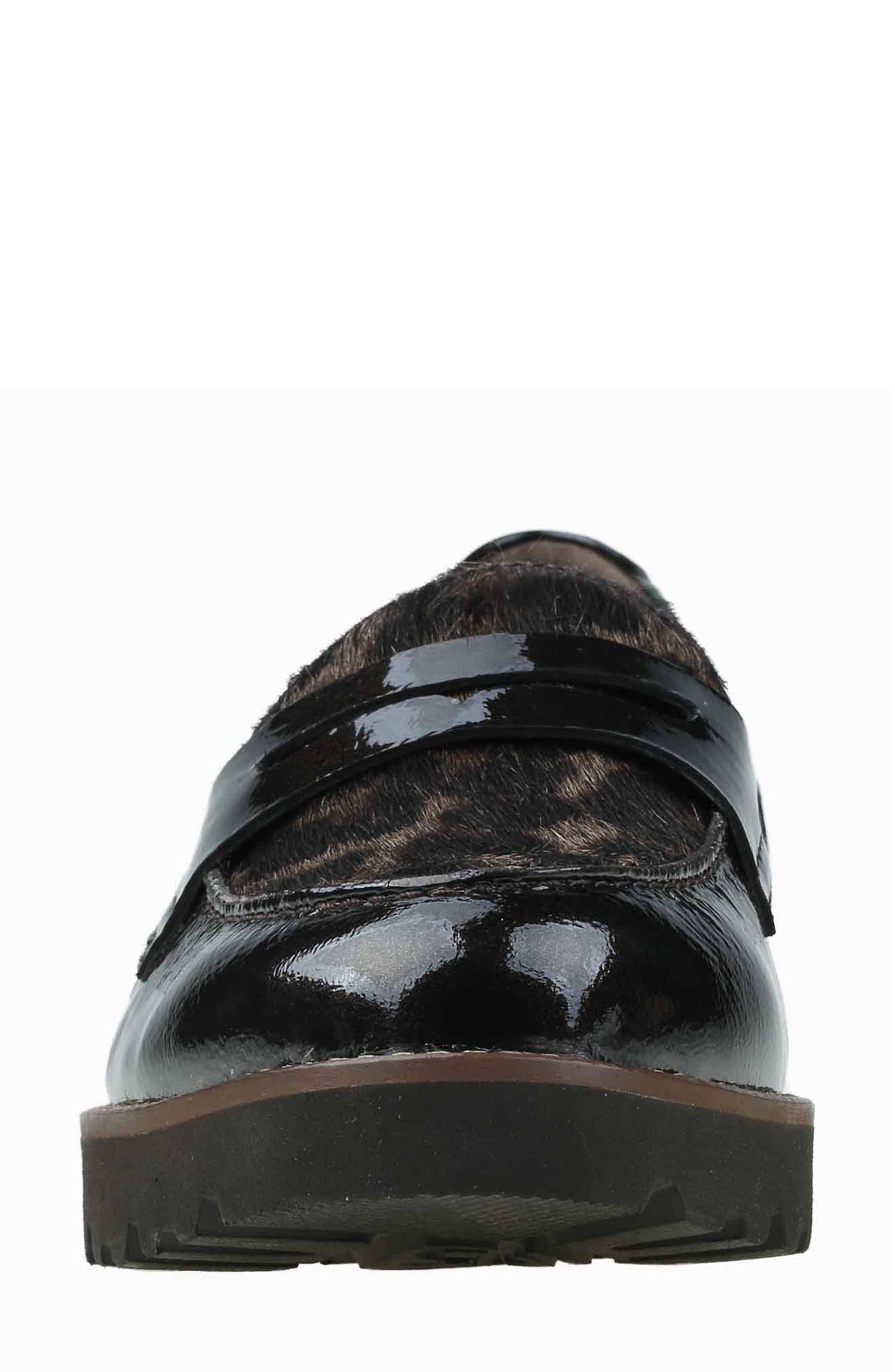 Alternate Image 4  - Earthies Braga Leather & Genuine Calf Hair Loafer (Women)