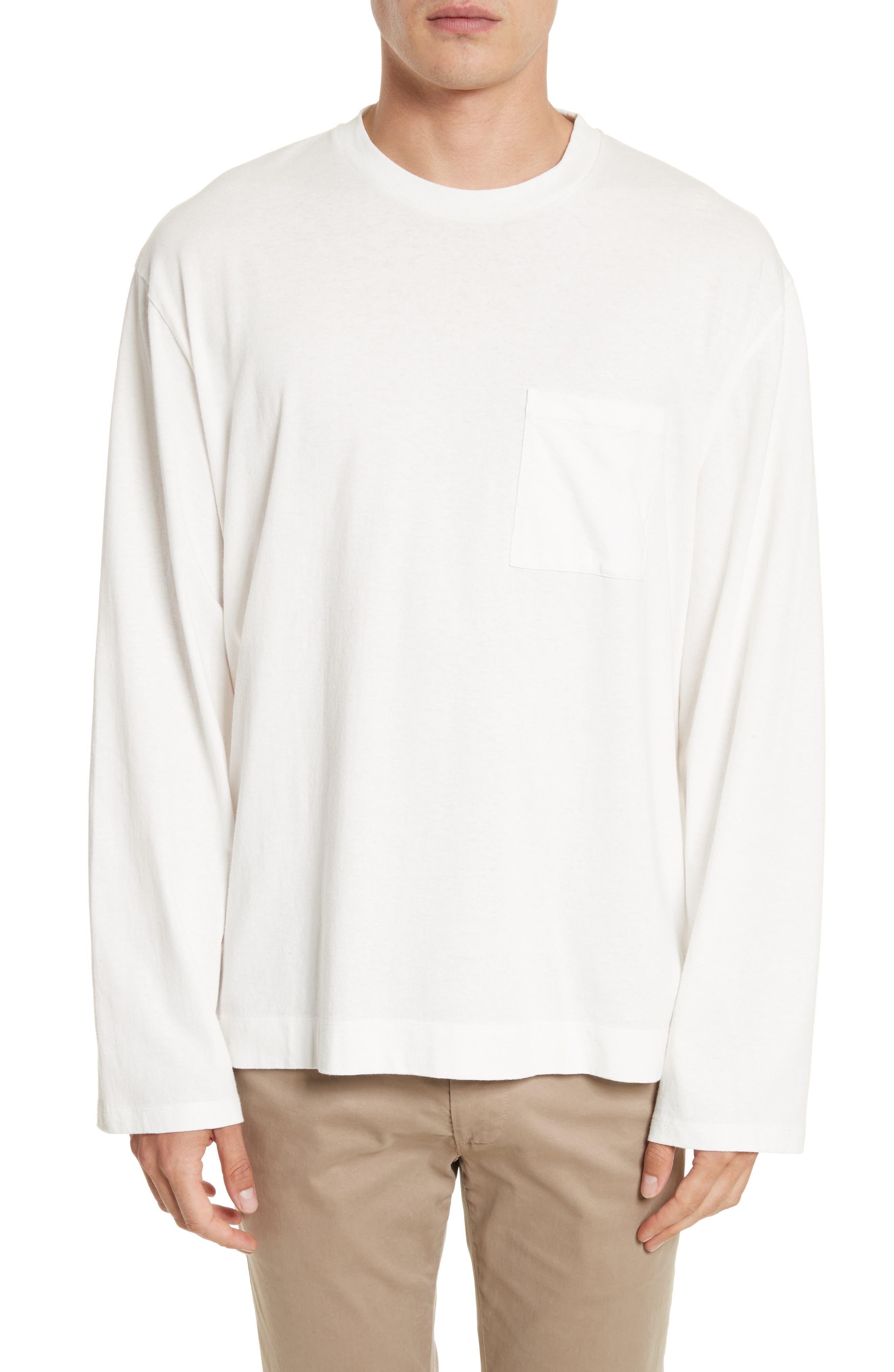 Box Fit Pocket T-Shirt,                         Main,                         color, White