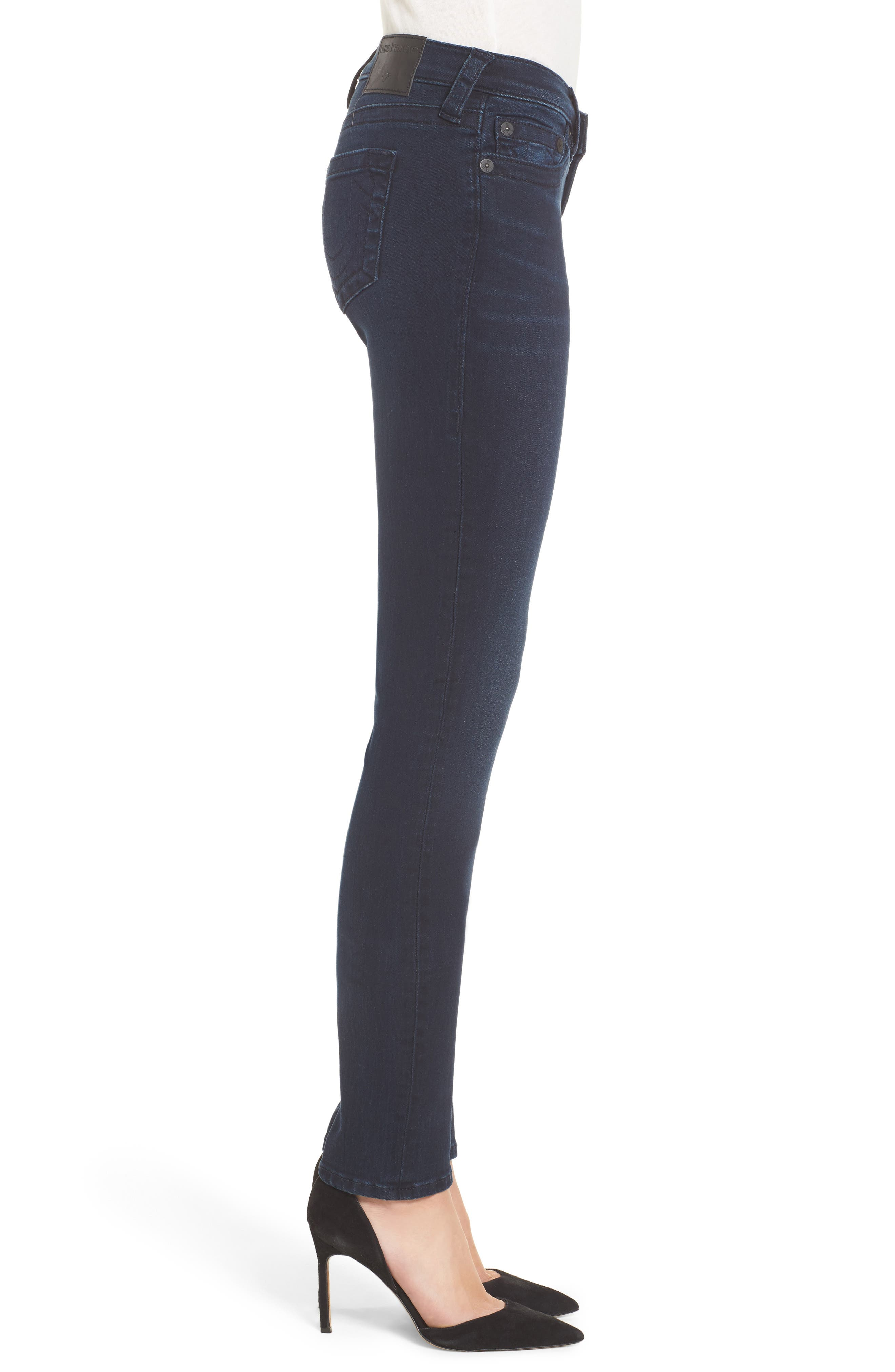 Alternate Image 3  - True Religion Brand Jeans Stella Low Rise Skinny Jeans (Mystic Blues)