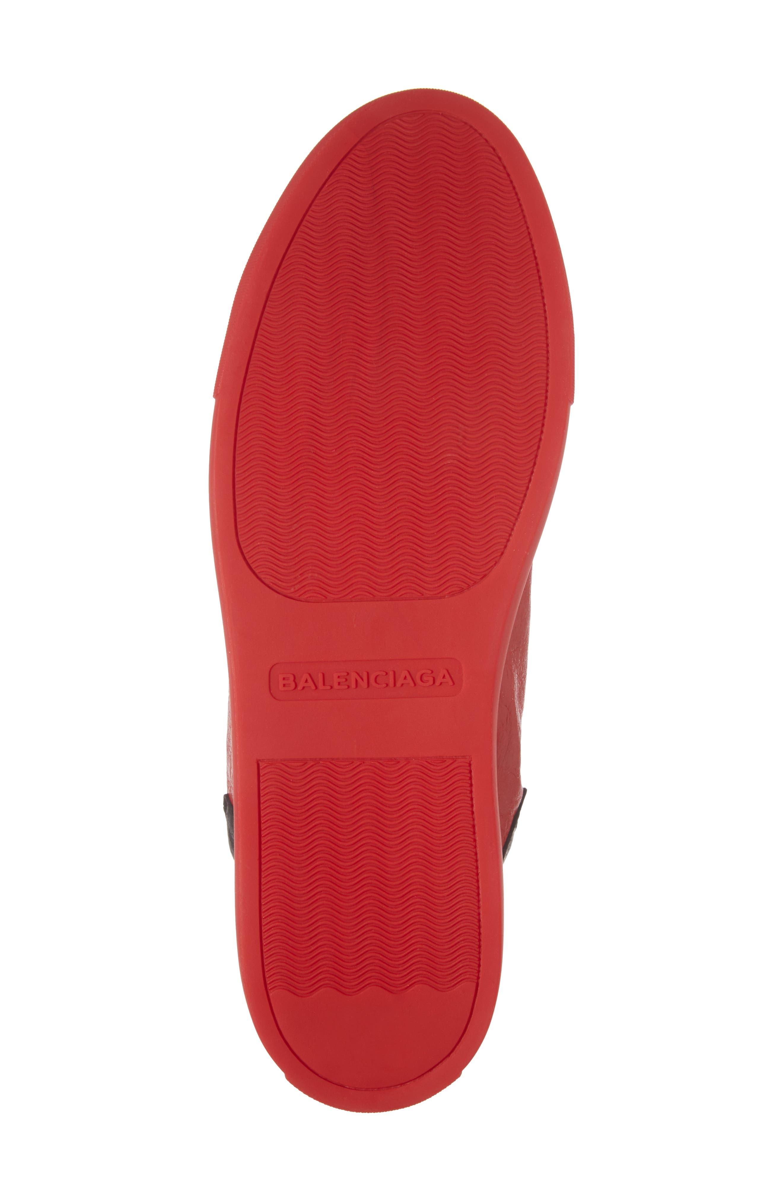 Arena High Sneaker,                             Alternate thumbnail 6, color,                             Rouge Paprika/ Noir Leather