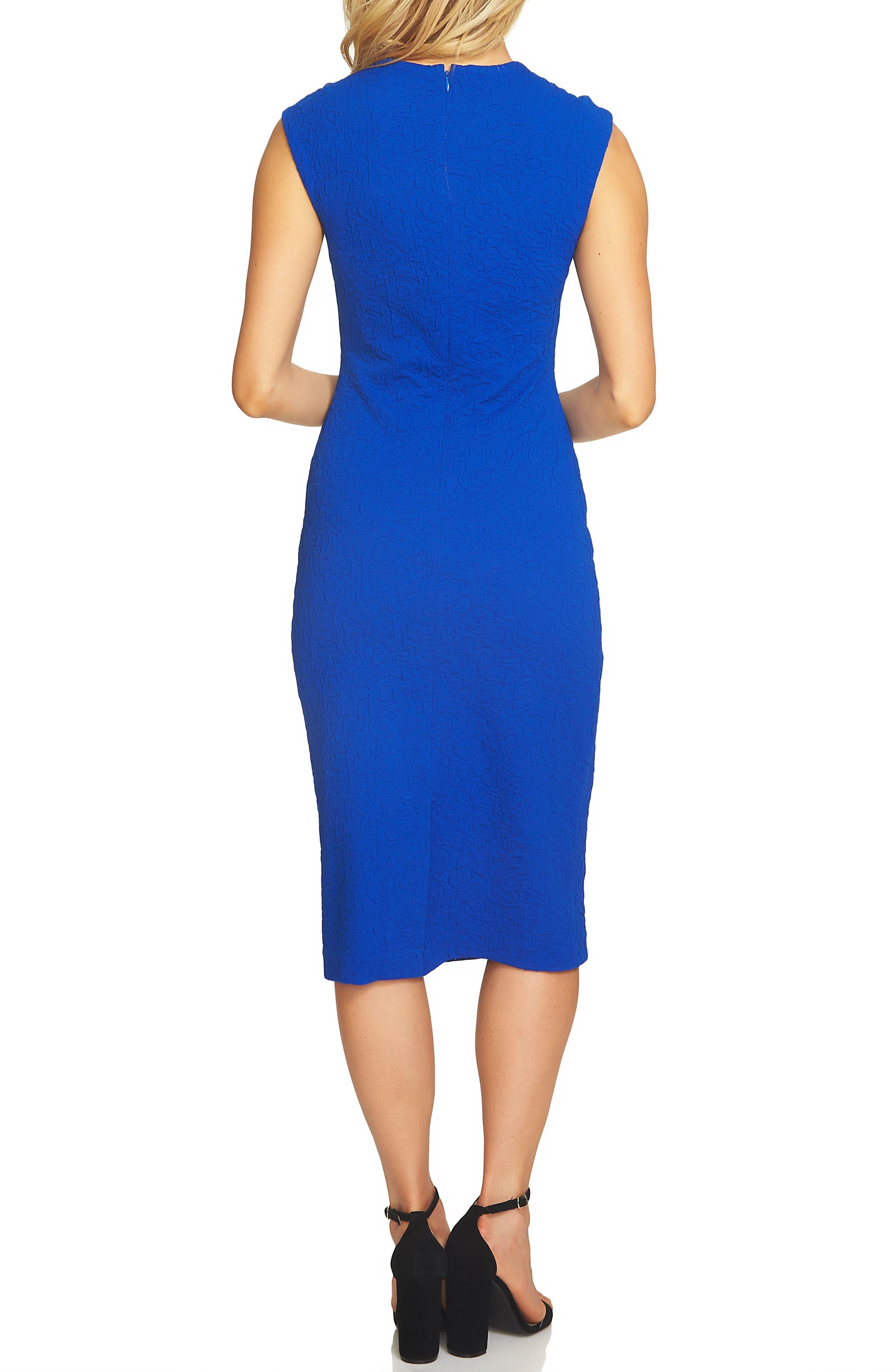 Alternate Image 2  - CeCe Paisley Jacquard Sheath Dress