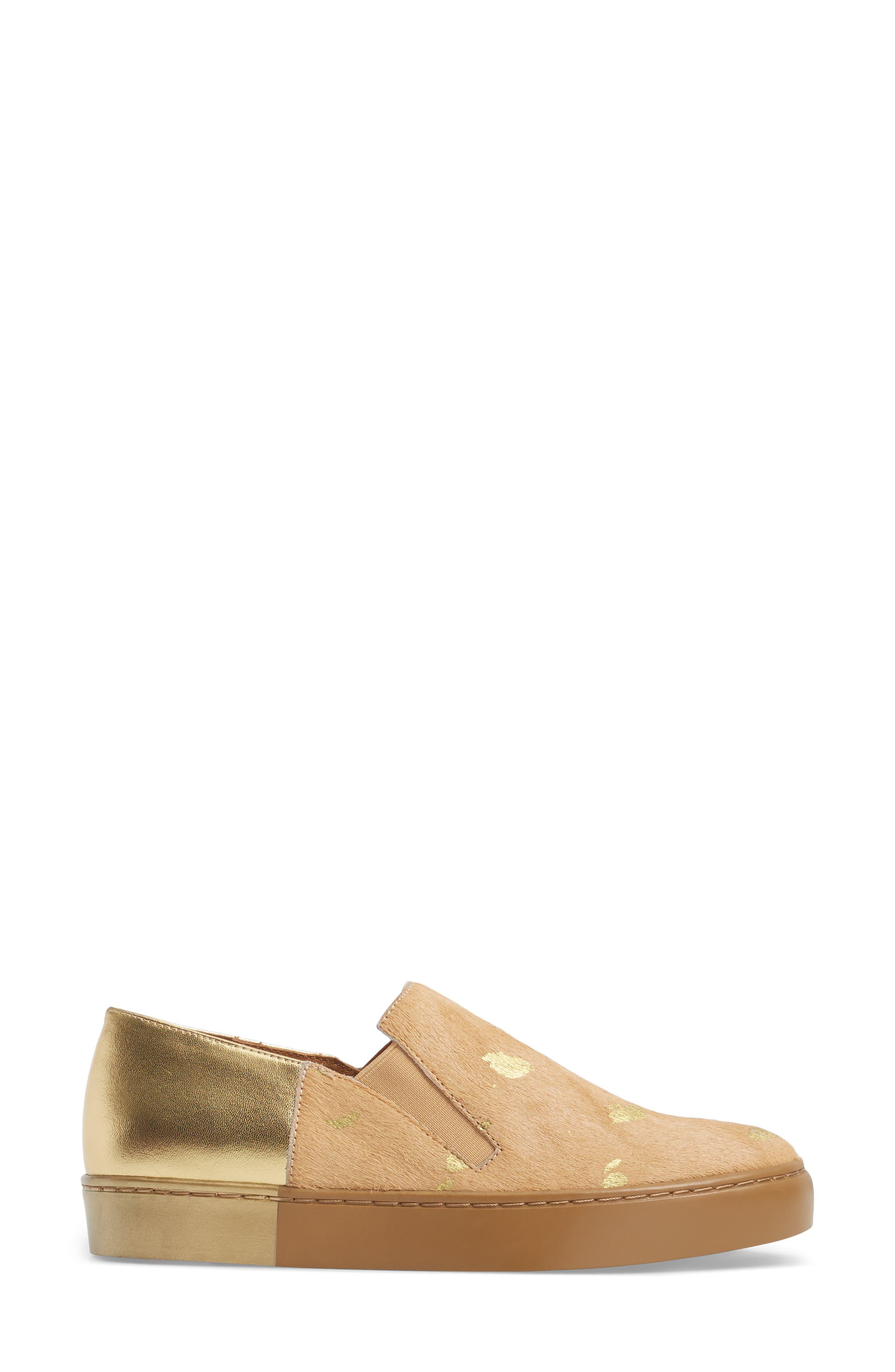 Varsity Slip-On Sneaker,                             Alternate thumbnail 3, color,                             Taupe