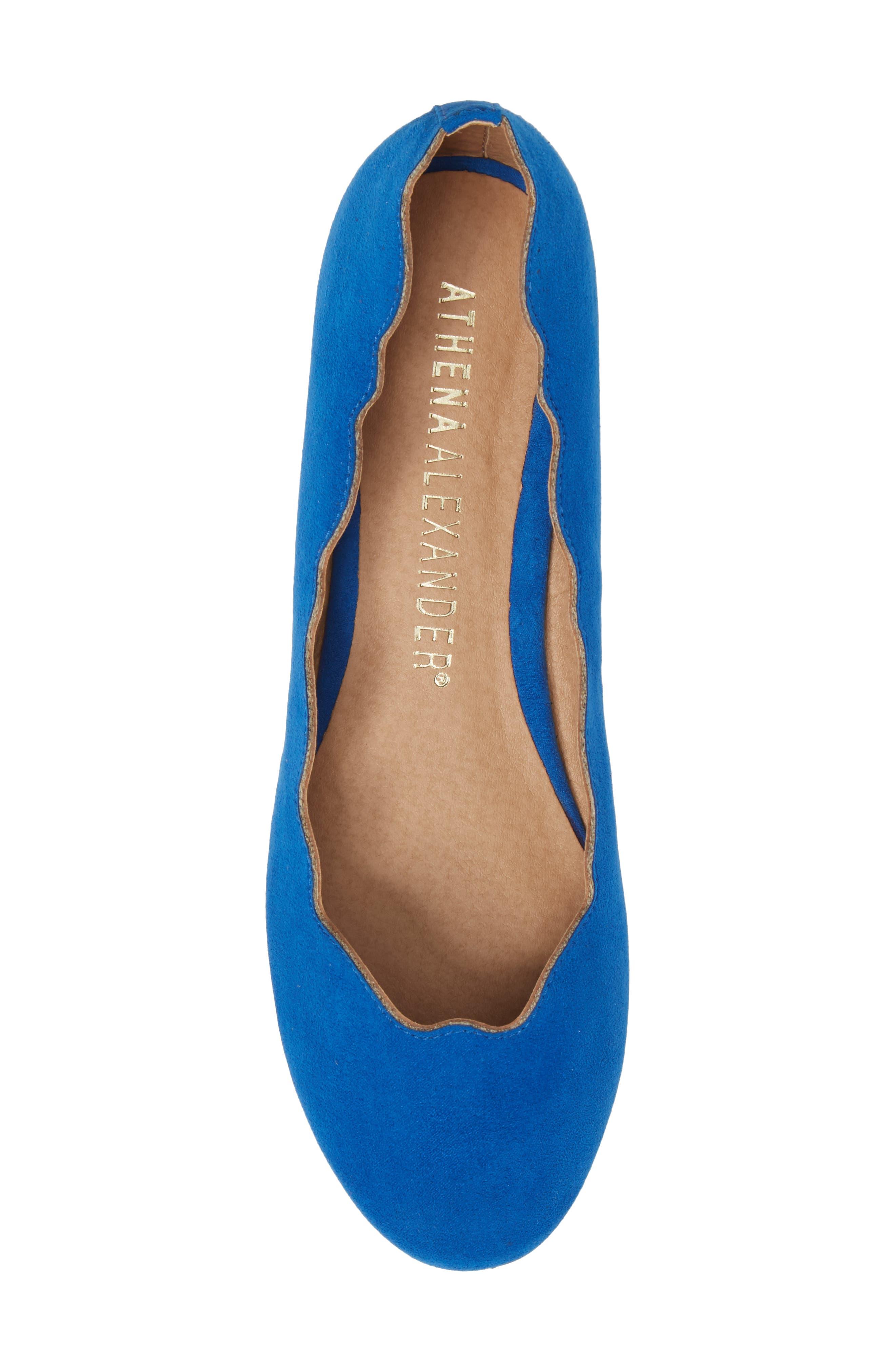 Tallye Ballet Flat,                             Alternate thumbnail 5, color,                             Royal Blue Faux Suede