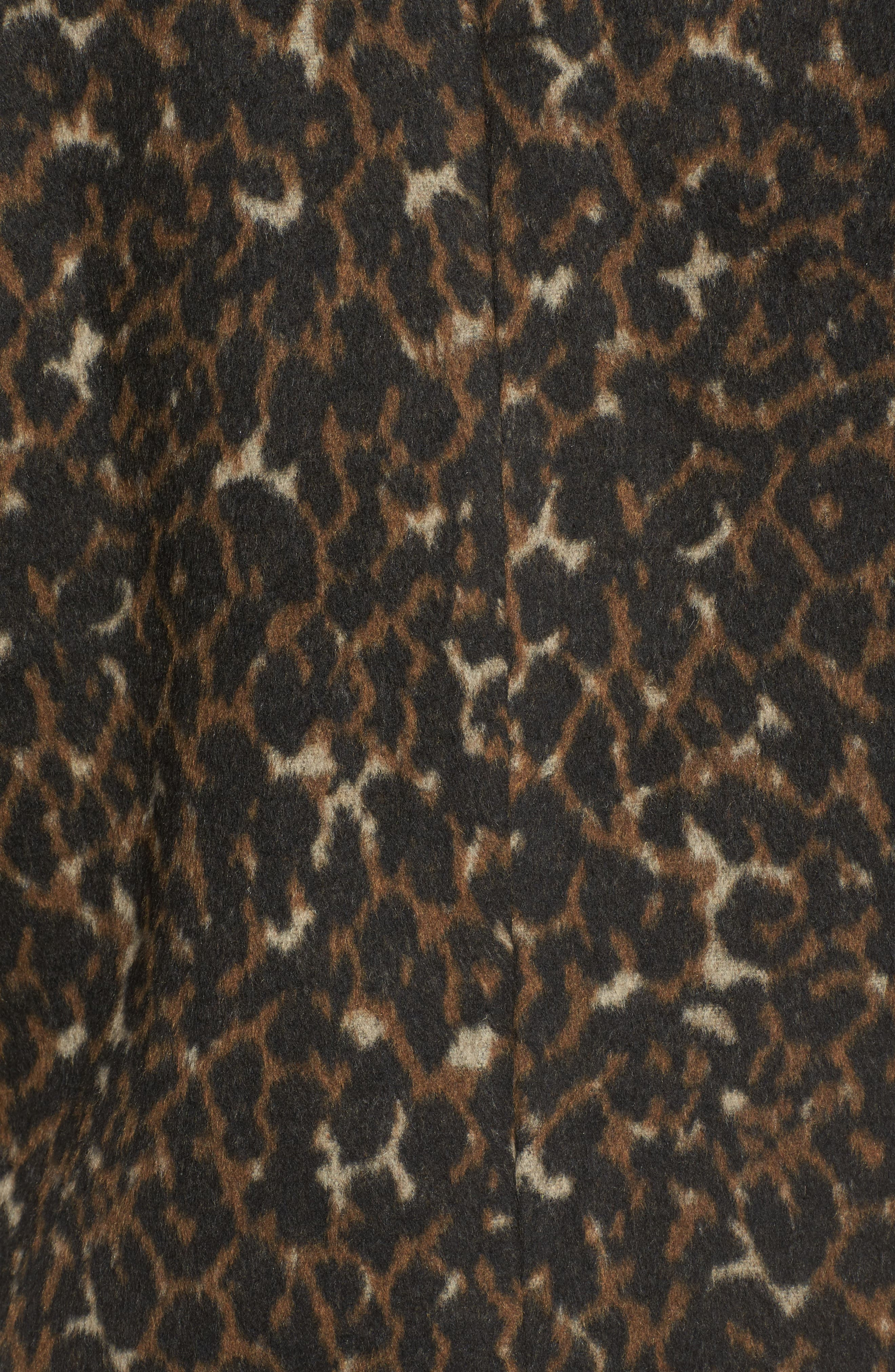 Alternate Image 5  - Hinge Animal Print Coat