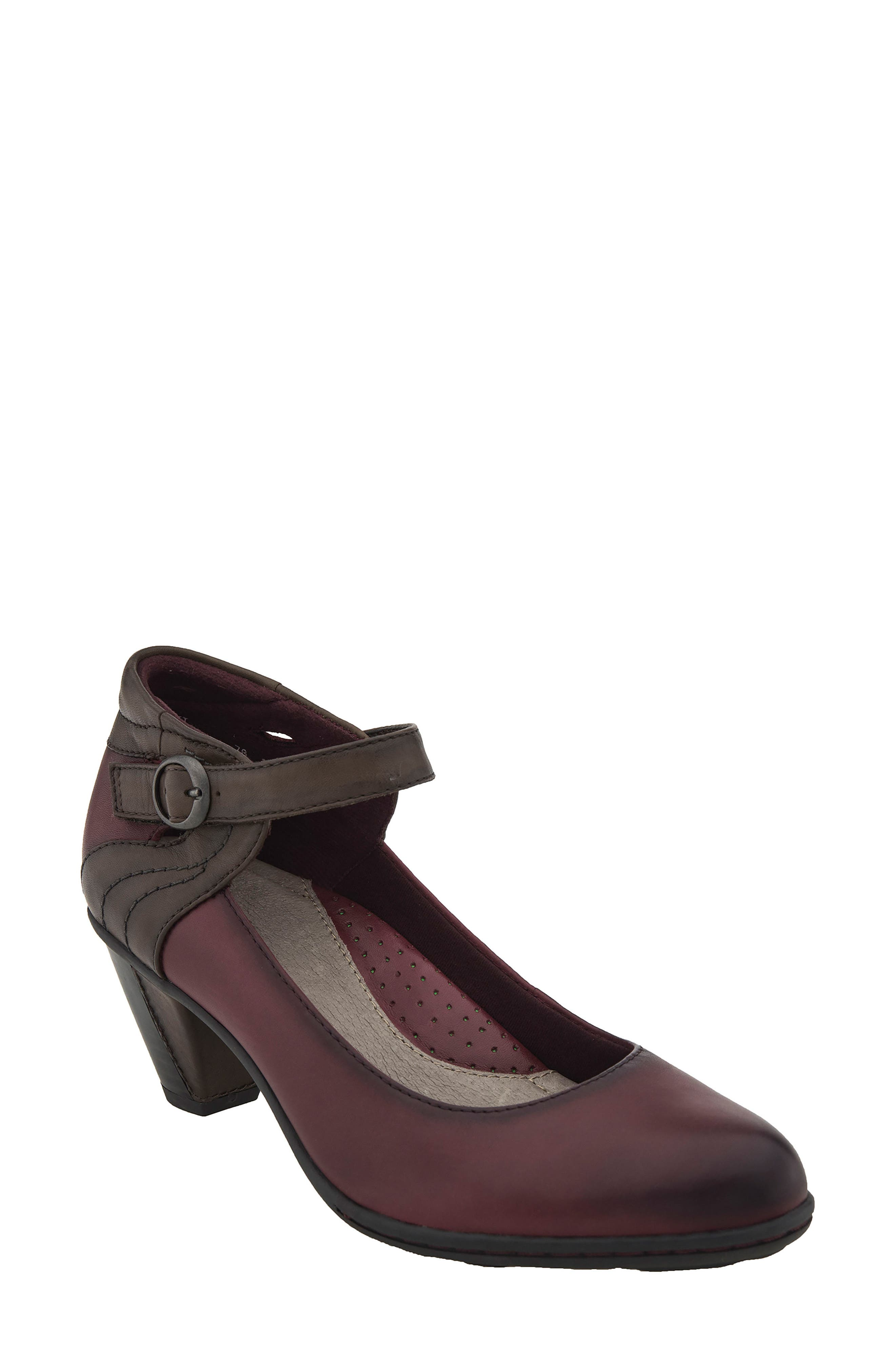 Alternate Image 1 Selected - Earth® Garnet Ankle Strap Pump (Women)