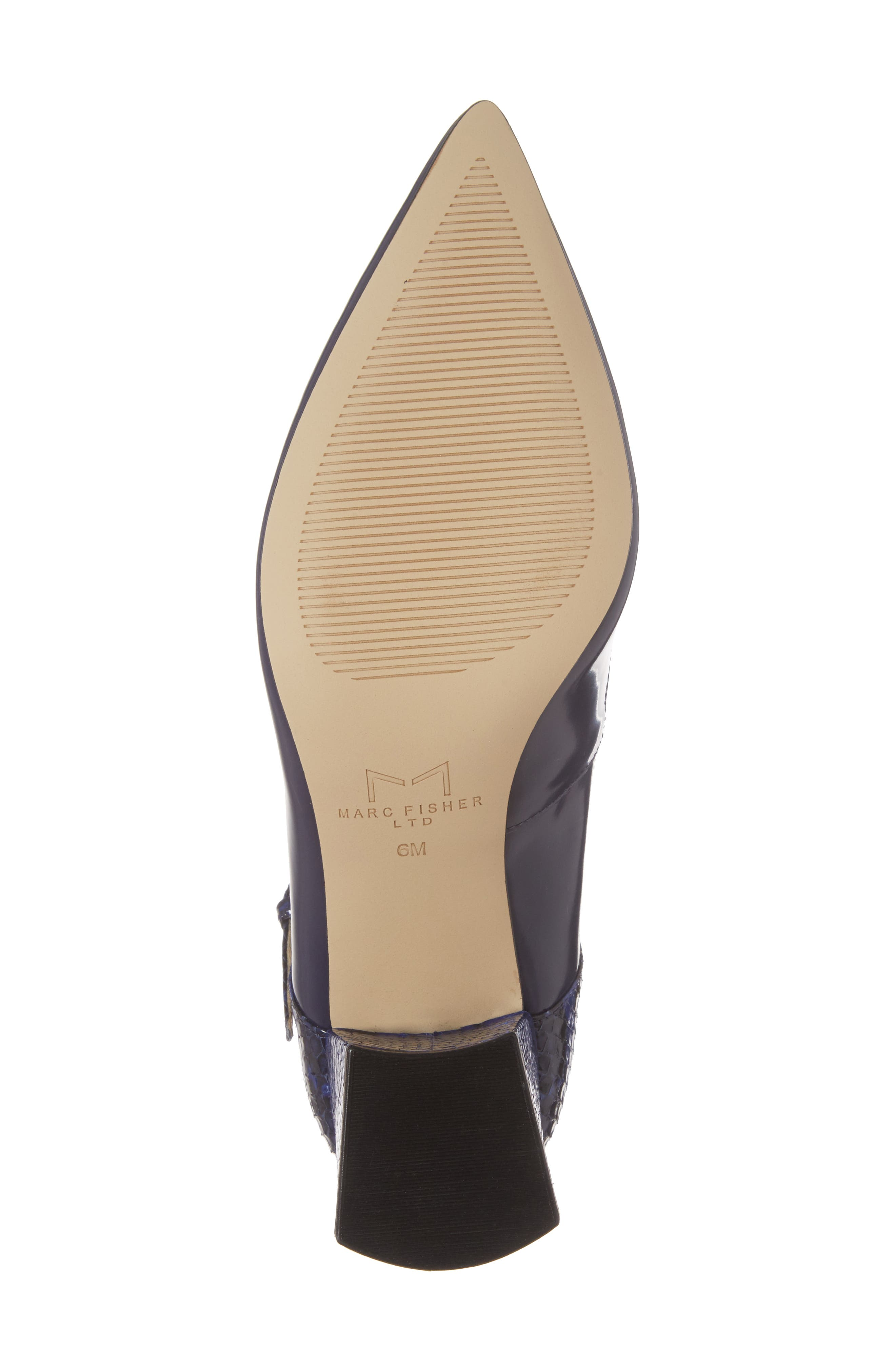 Alternate Image 6  - Marc Fisher LTD Zullys Snake Embossed Mary Jane Pump (Women)