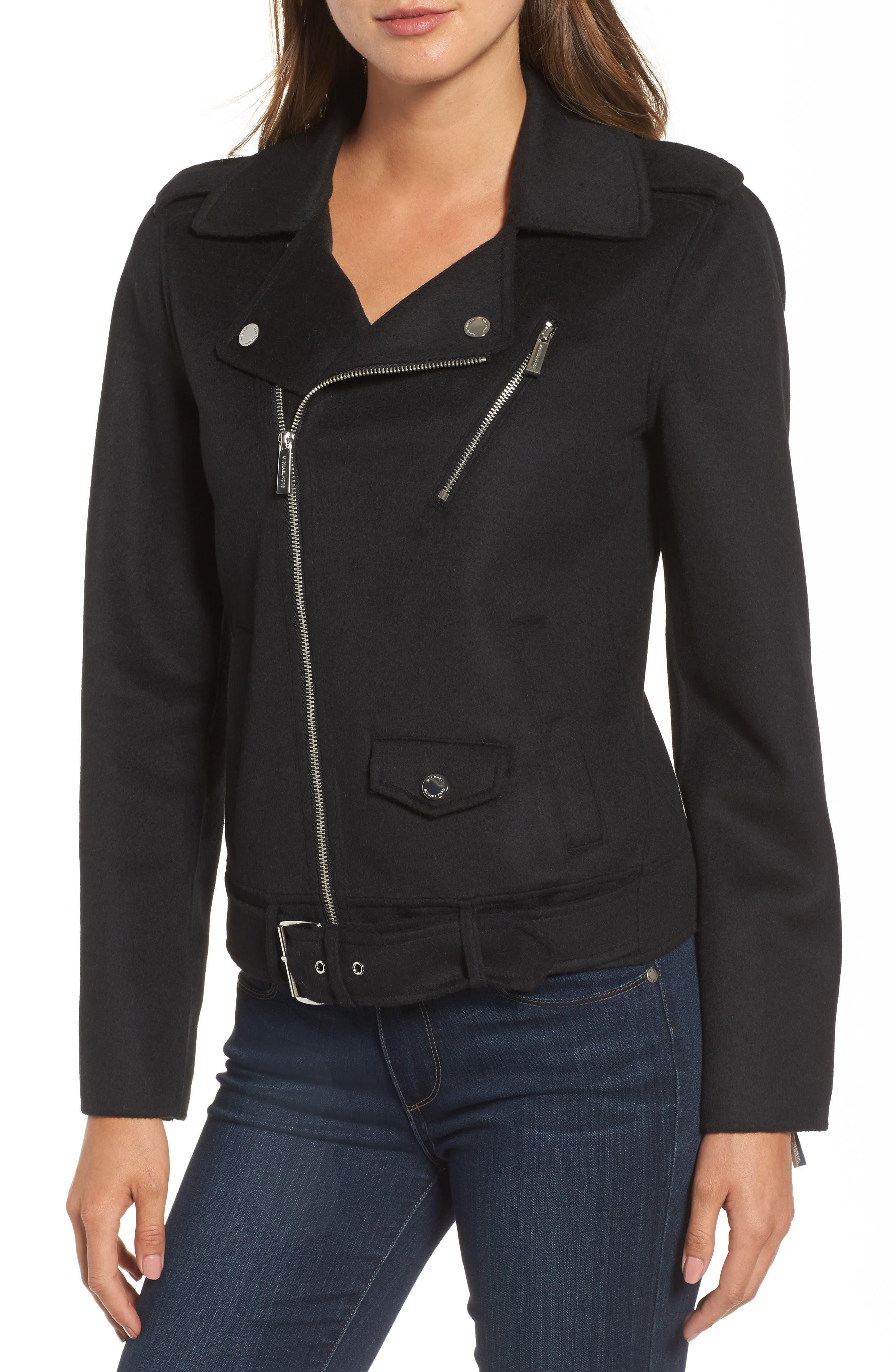 Alternate Image 4  - MICHAEL Michael Kors Wool Blend Moto Jacket (Regular & Petite)