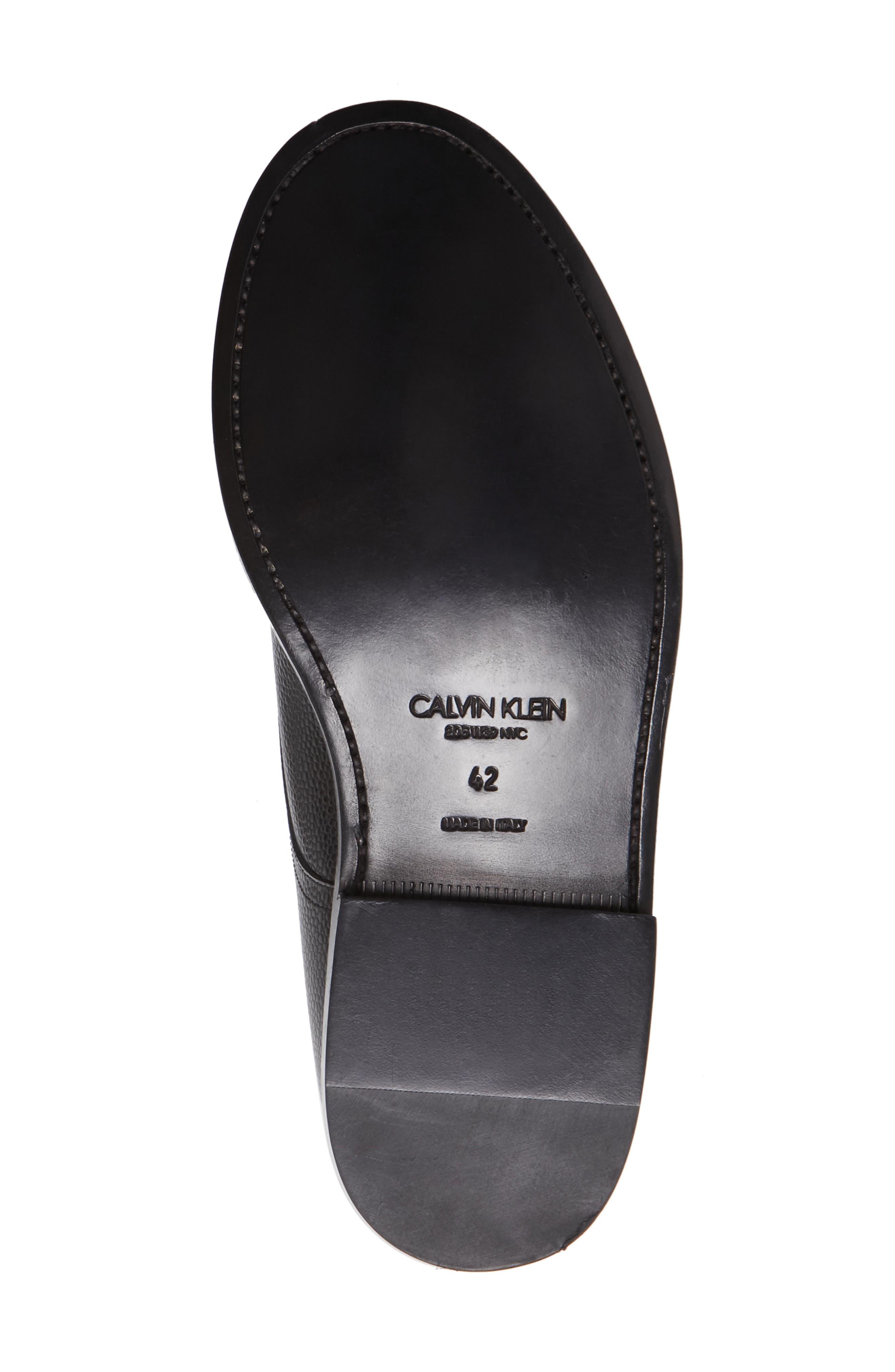 Hova Double Monk Strap Shoe,                             Alternate thumbnail 6, color,                             Black Leather