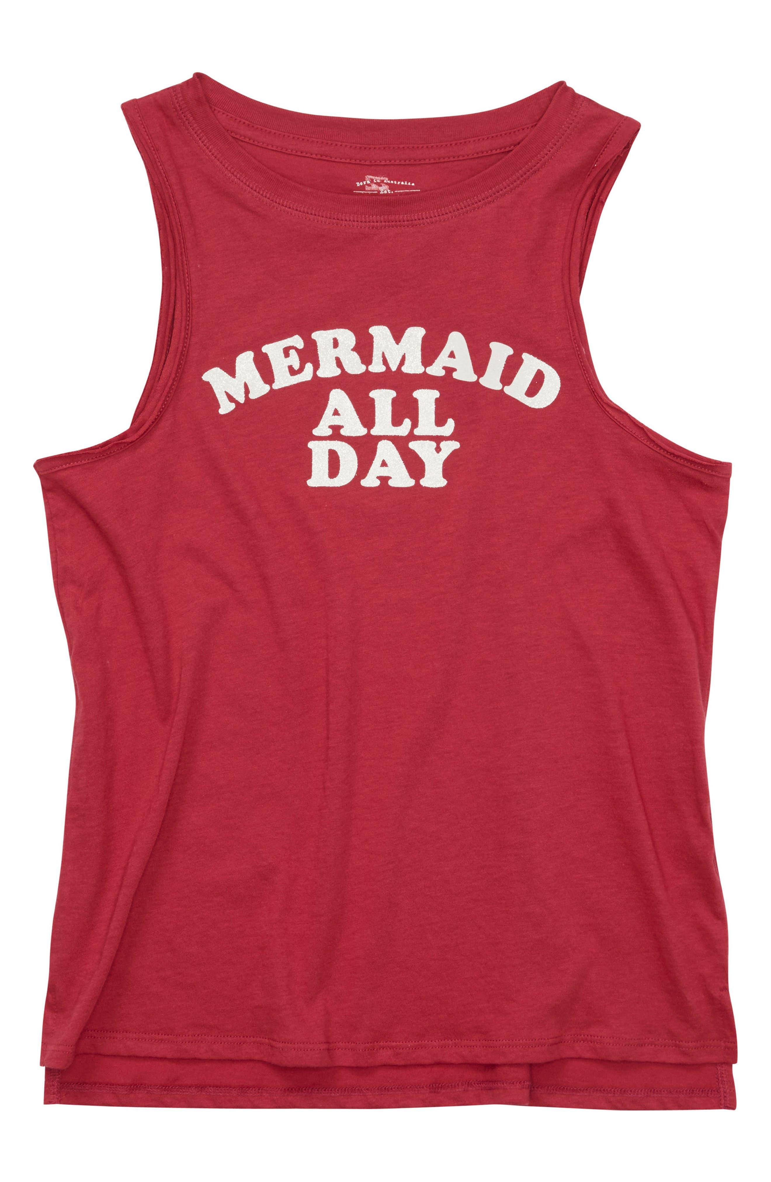 Billabong Mermaid All Day Muscle Tee (Little Girls & Big Girls)