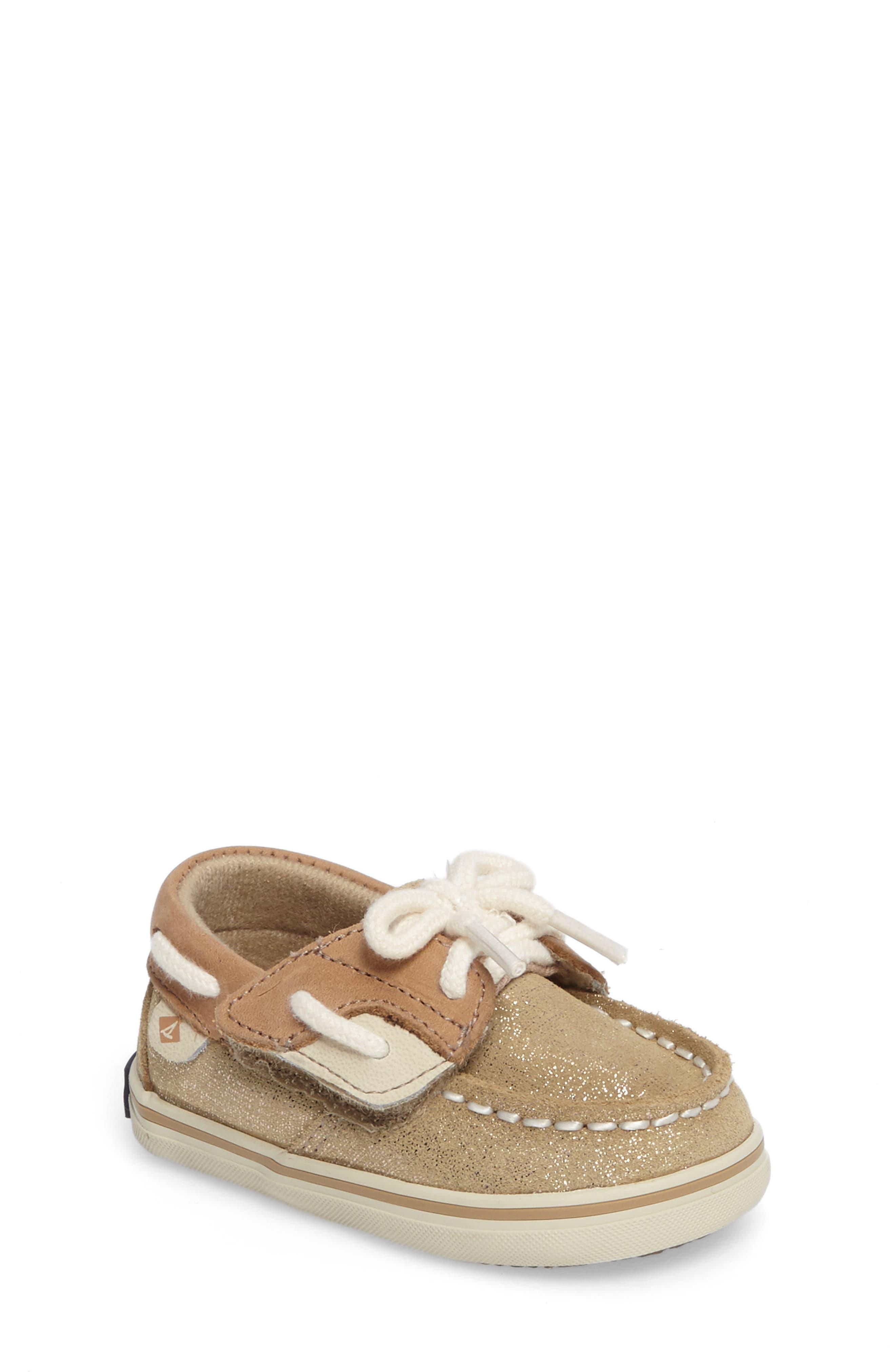 Sperry Kids Bluefish Crib Boat Shoe (Baby)