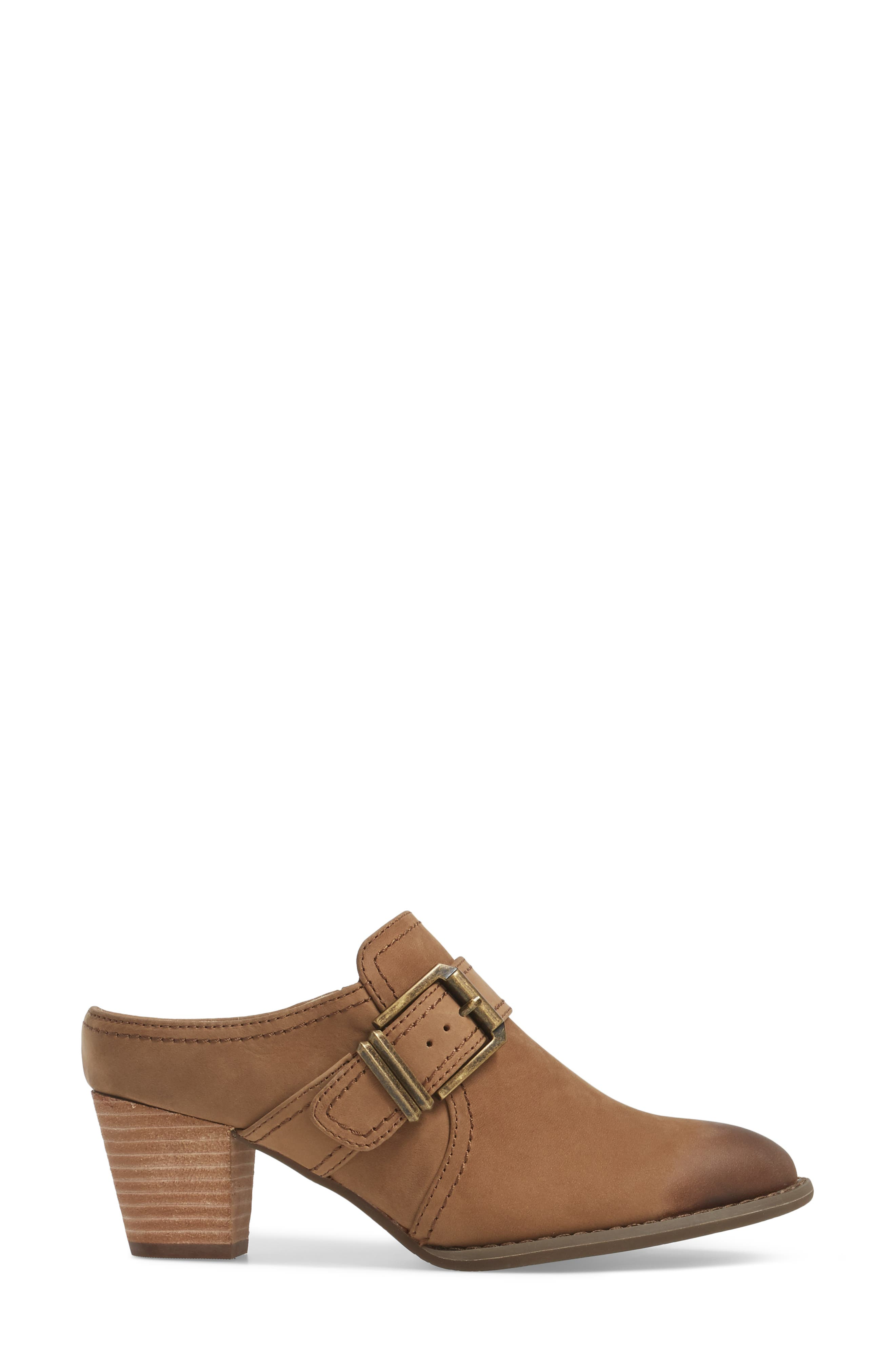 Cheyenne Mule,                             Alternate thumbnail 3, color,                             Brown Leather
