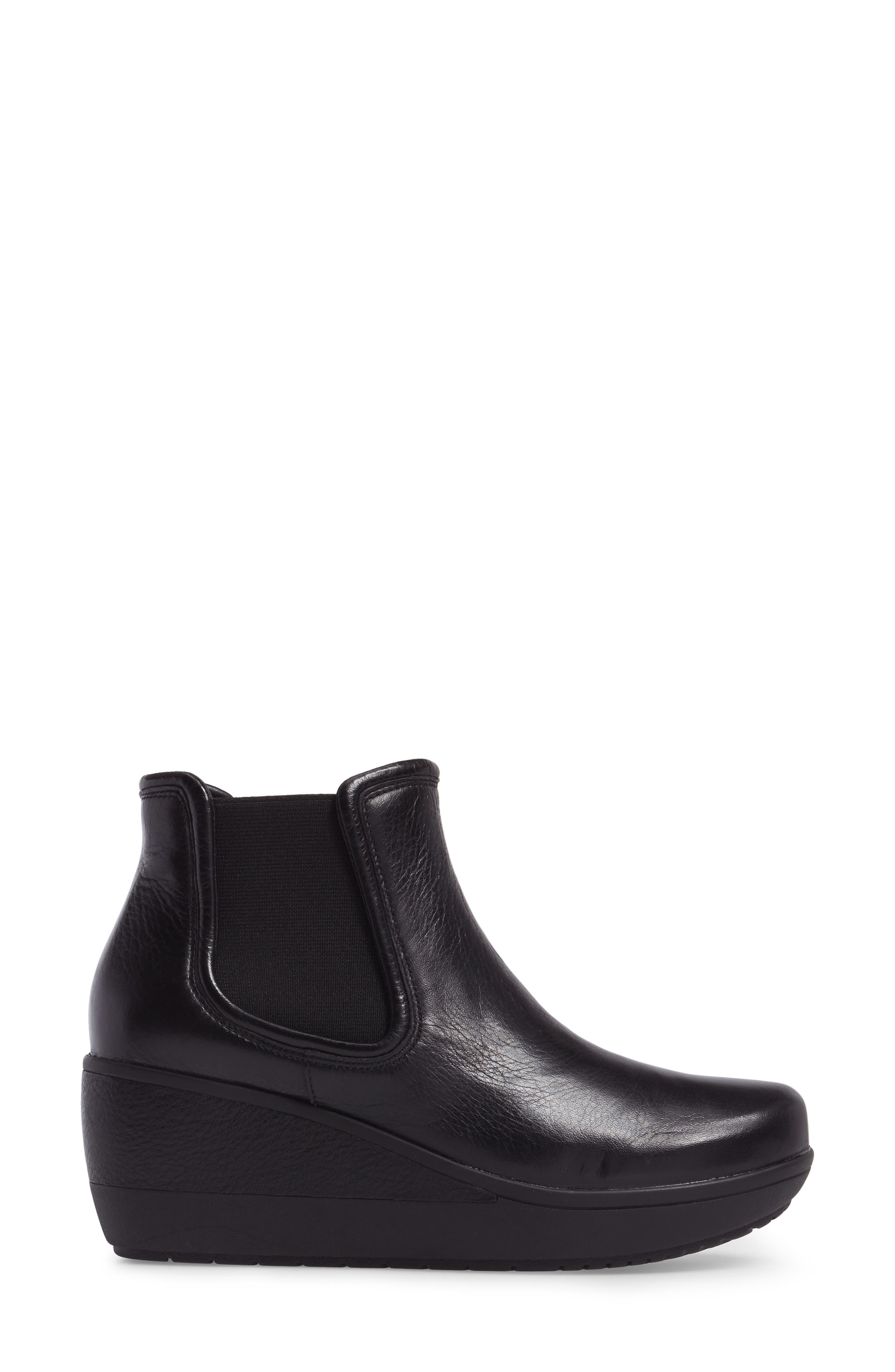 Wynnmere Mara Boot,                             Alternate thumbnail 3, color,                             Black Leather