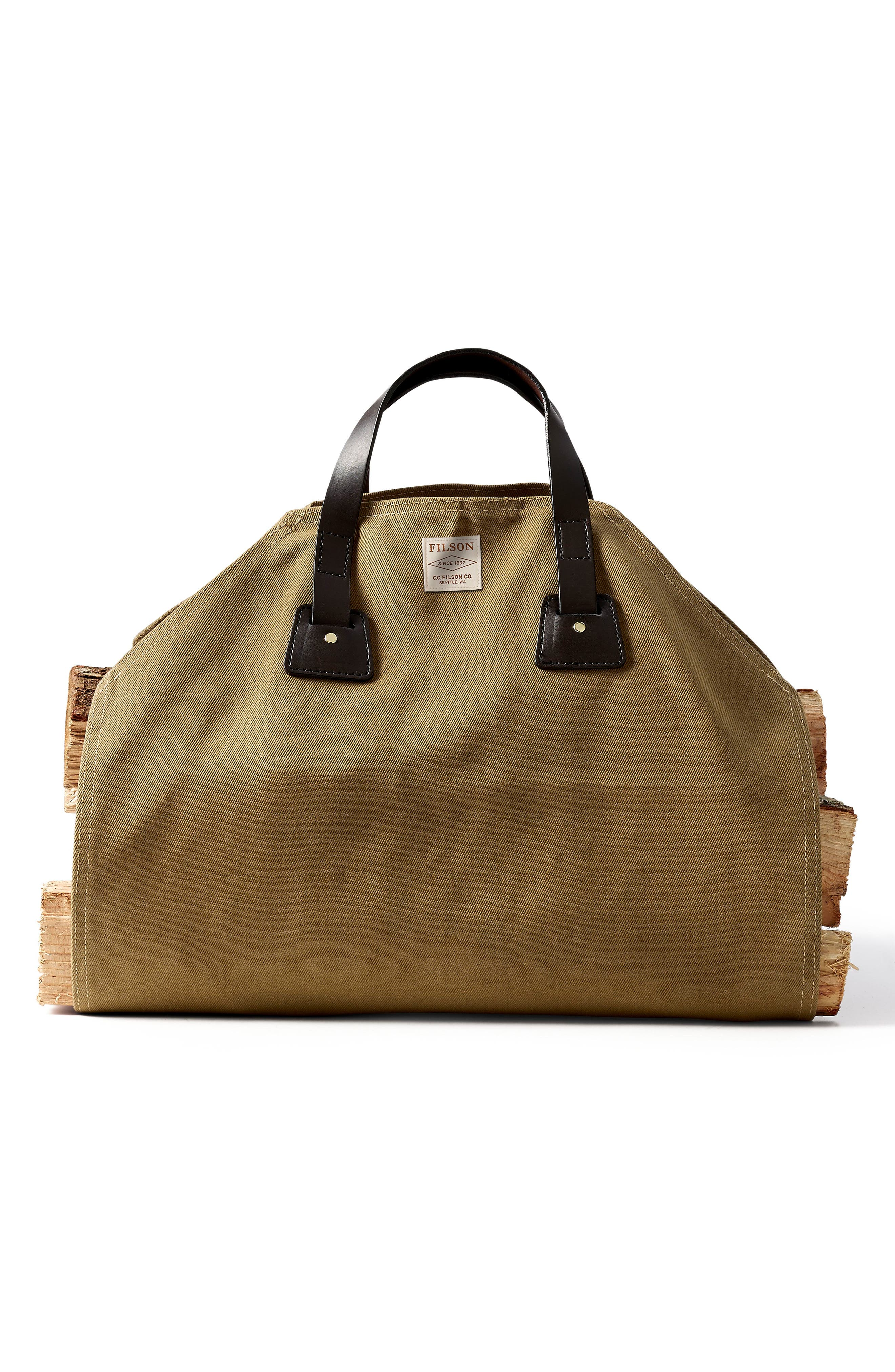 Log Carrier,                         Main,                         color, Tan