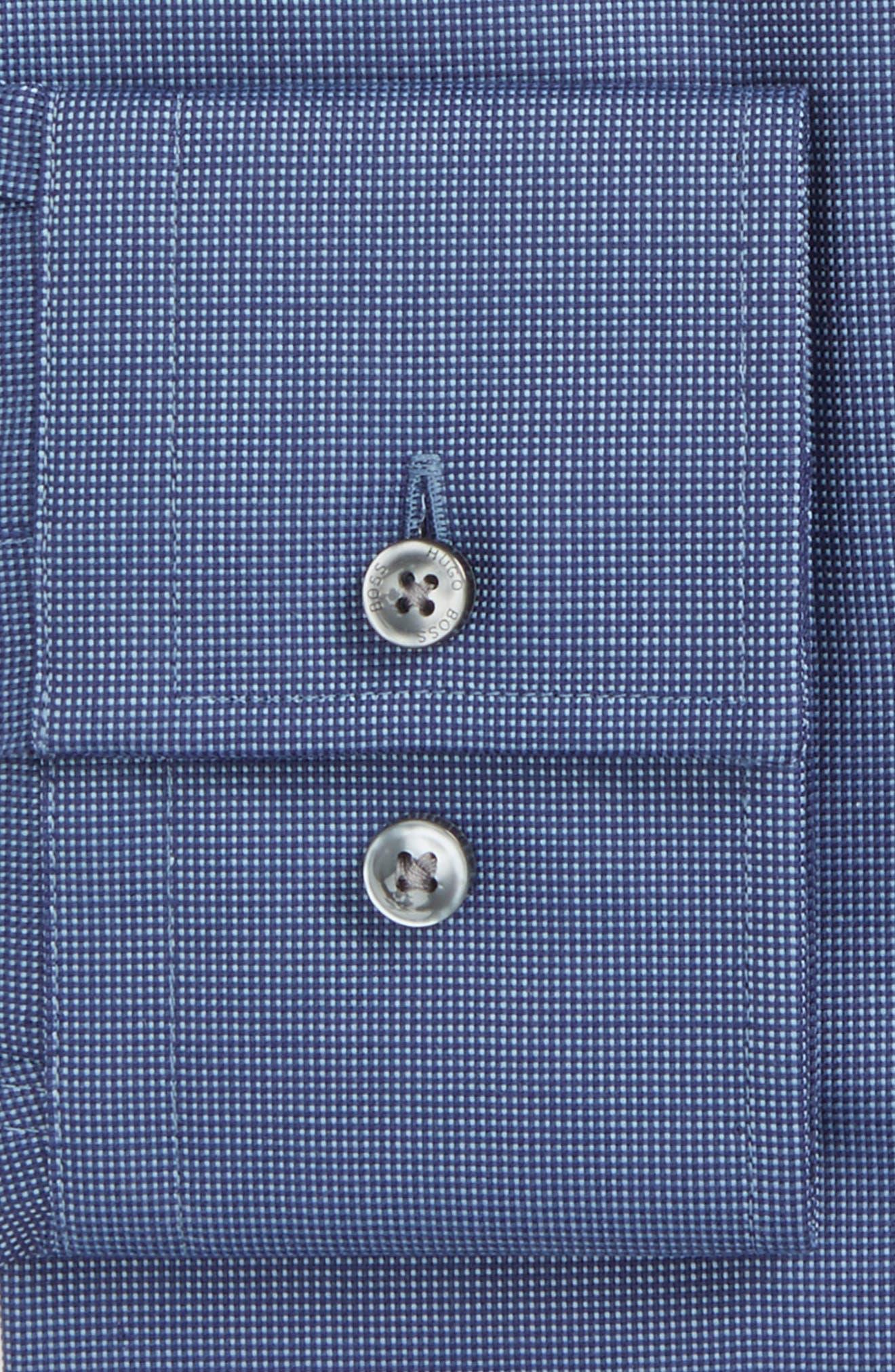 Jenno Slim Fit Solid Dress Shirt,                             Alternate thumbnail 2, color,                             Medium Blue