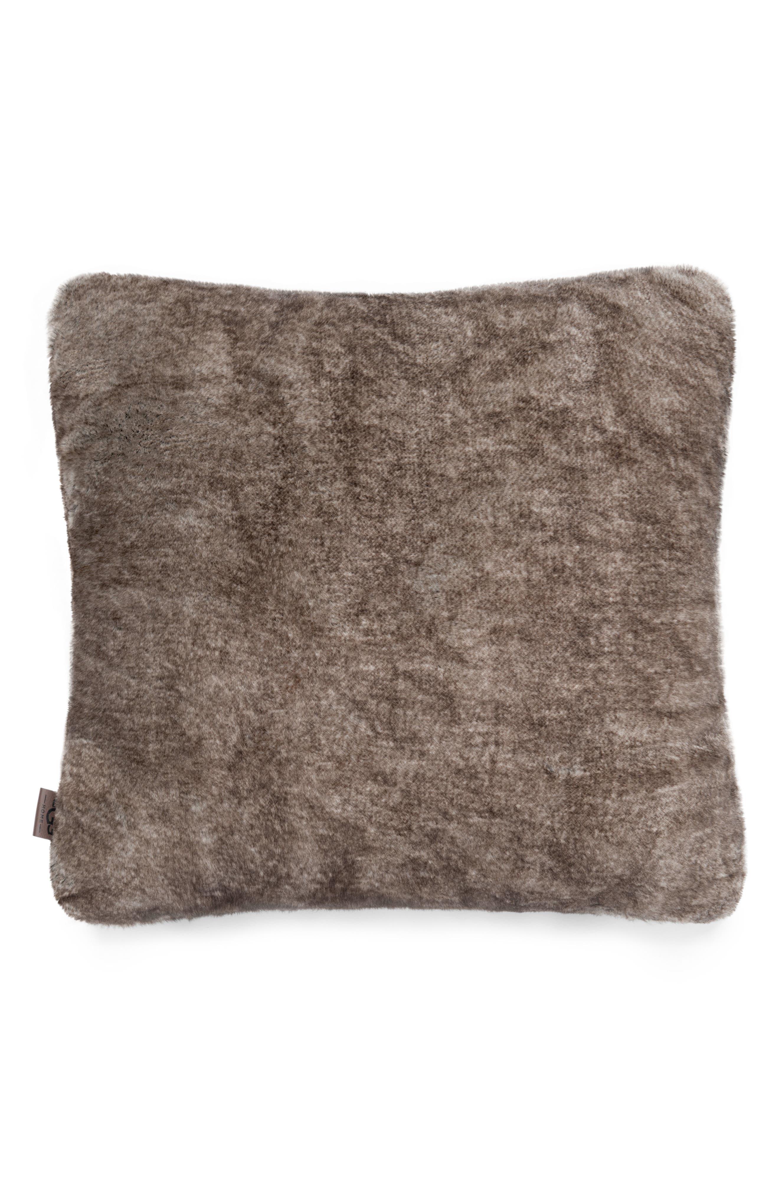 Dream Faux Fur Pillow,                             Main thumbnail 1, color,                             Cocoa