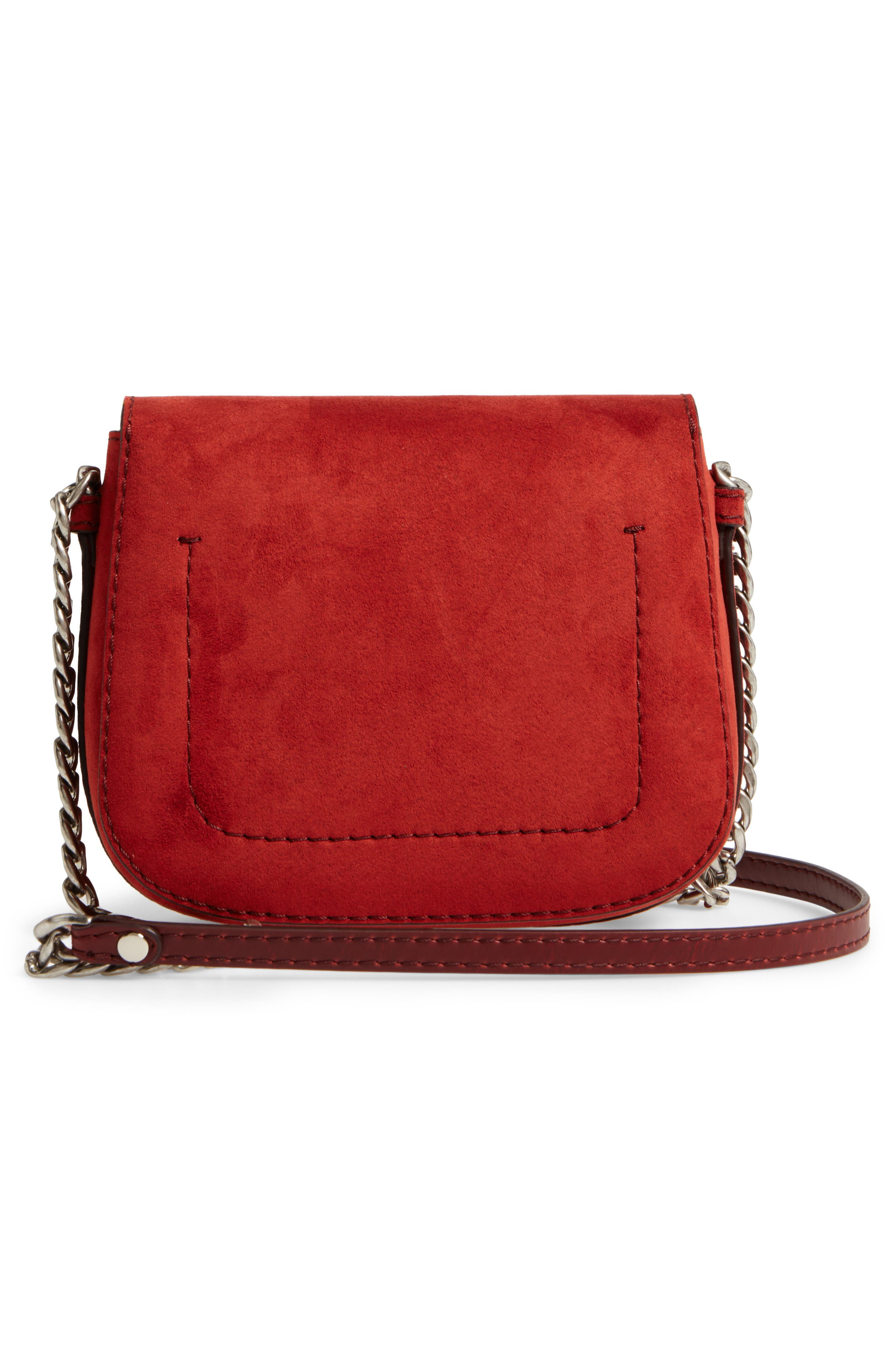 Faux Leather Shoulder Bag,                             Alternate thumbnail 2, color,                             Henna