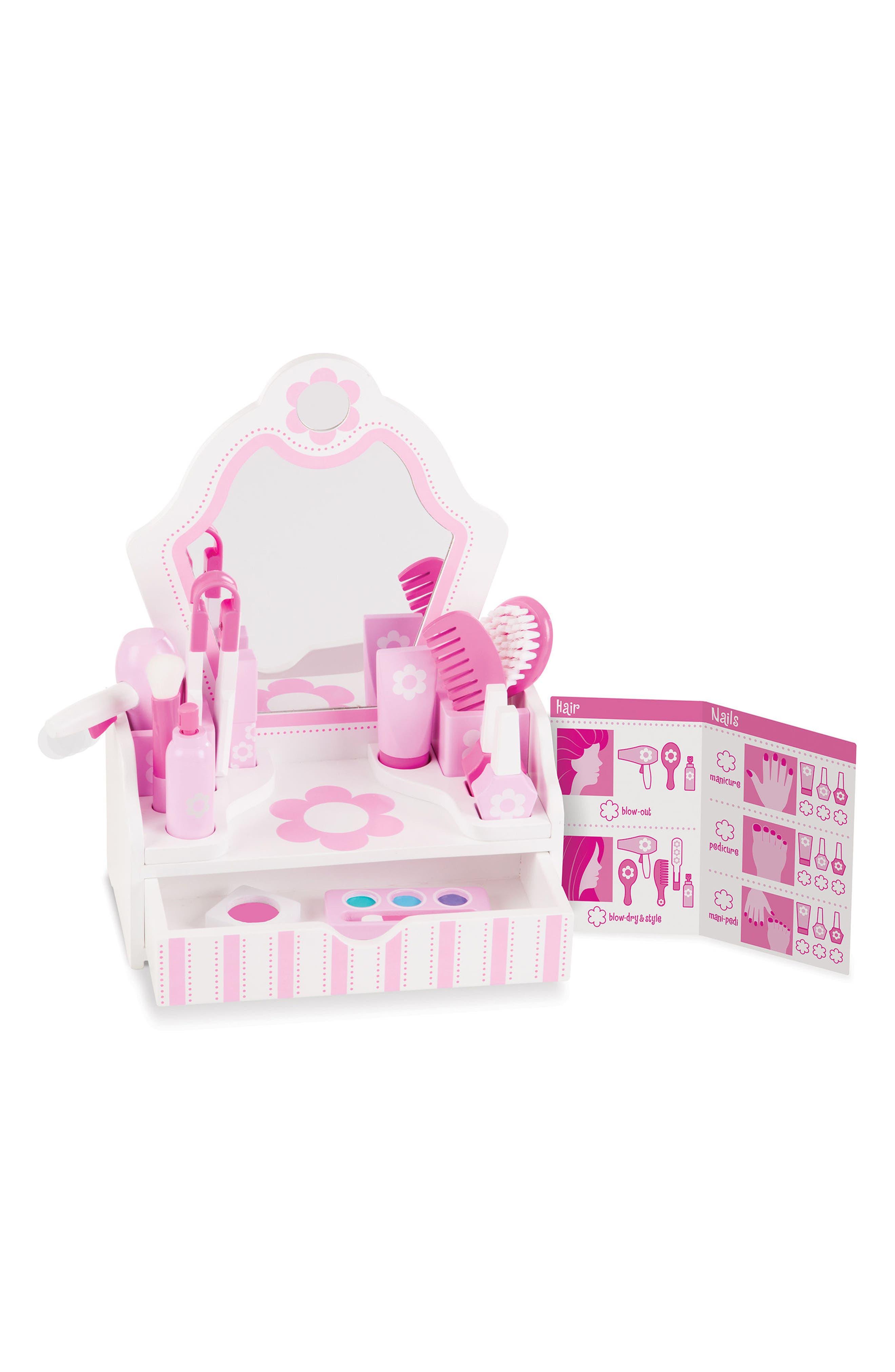 Vanity Play Set,                             Main thumbnail 1, color,                             Pink Multi
