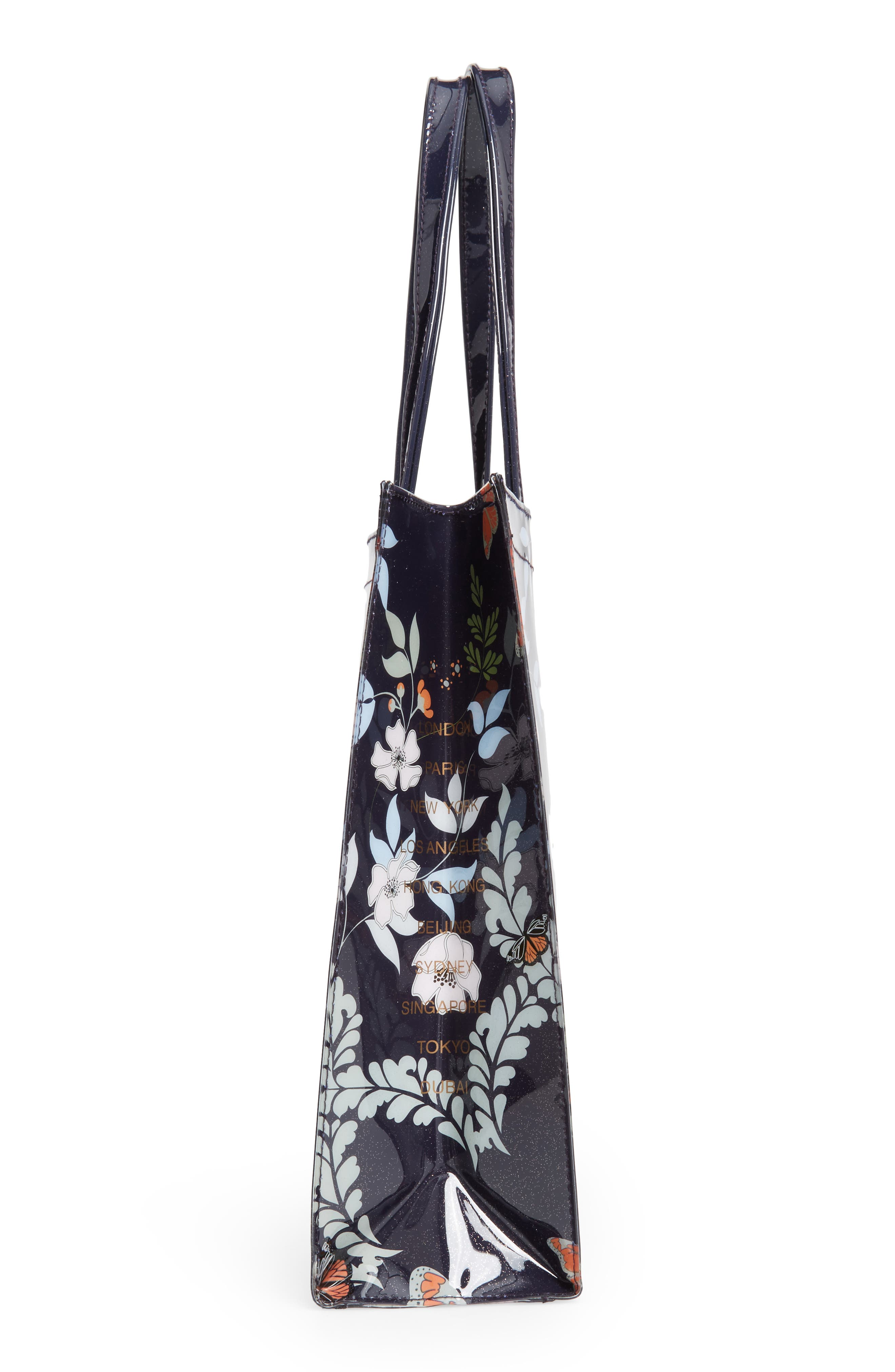 Large Icon - Kyoto Gardens Tote,                             Alternate thumbnail 5, color,                             Mid Blue
