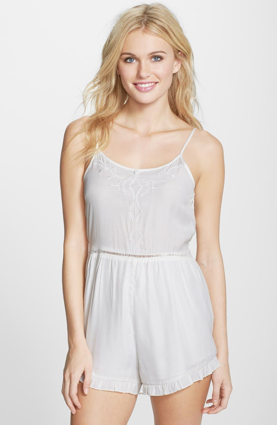 Main Image - MINKPINK Embroidered Cover-Up Romper