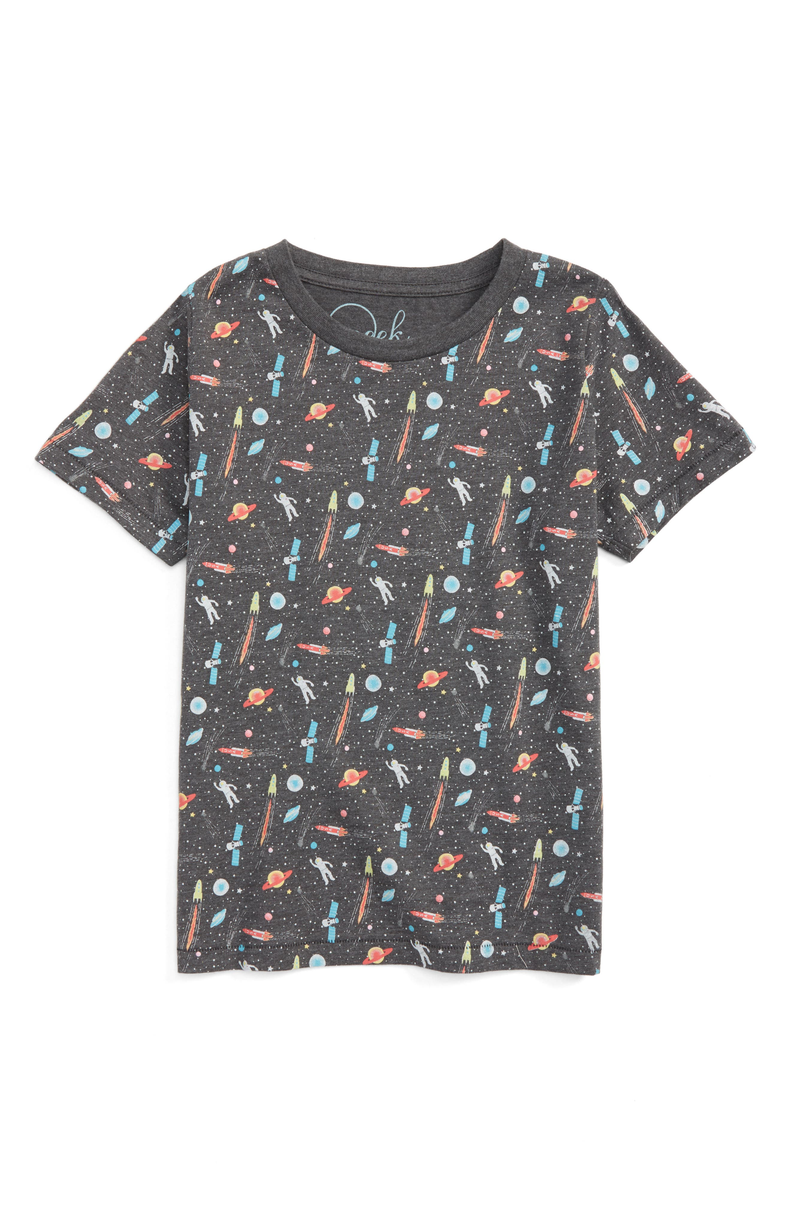 Space T-Shirt,                         Main,                         color, Black