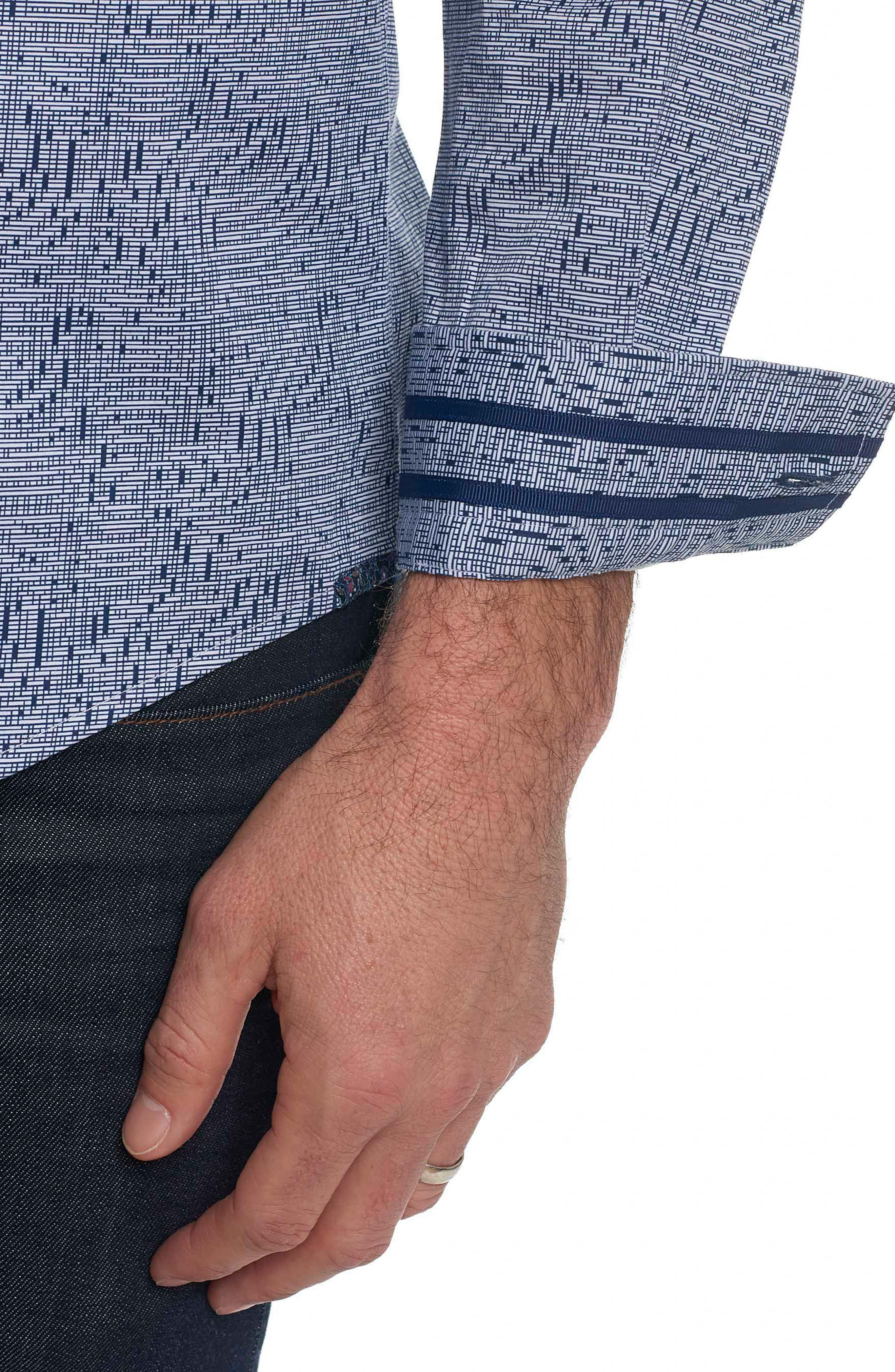 Alternate Image 5  - Robert Graham Donovan Tailored Fit Sport Shirt