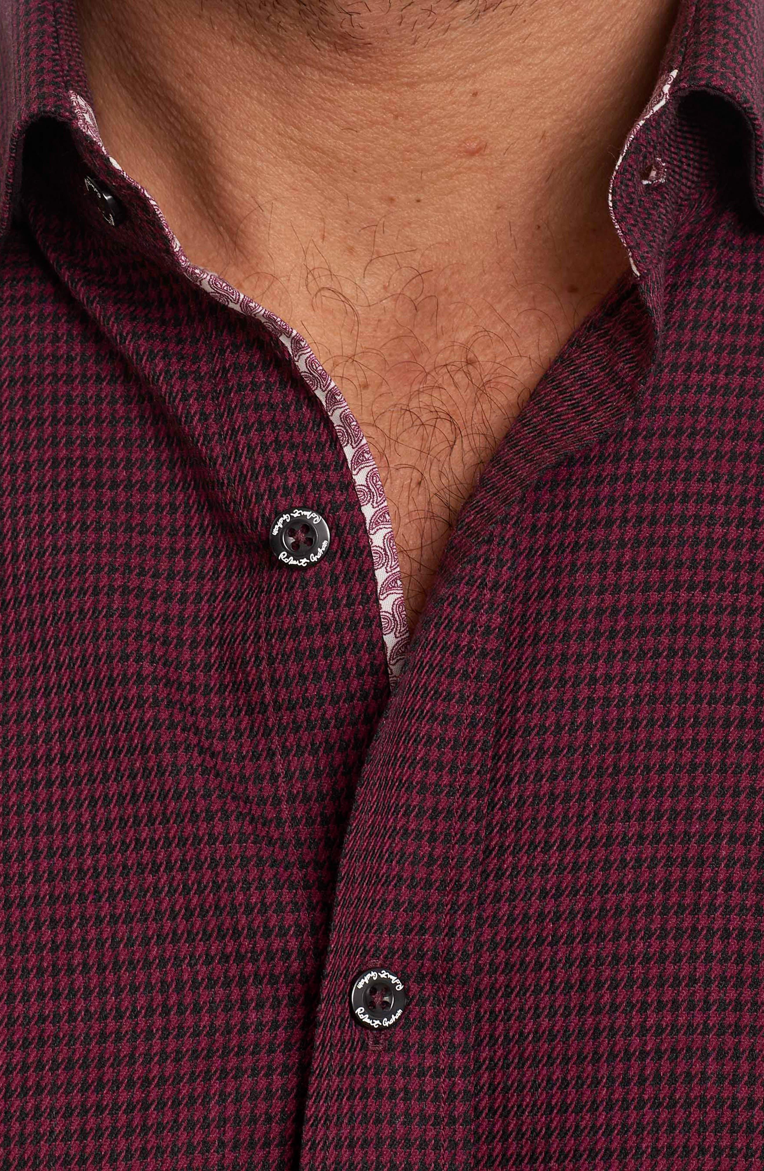 Alternate Image 3  - Robert Graham Colin Tailored Fit Sport Shirt