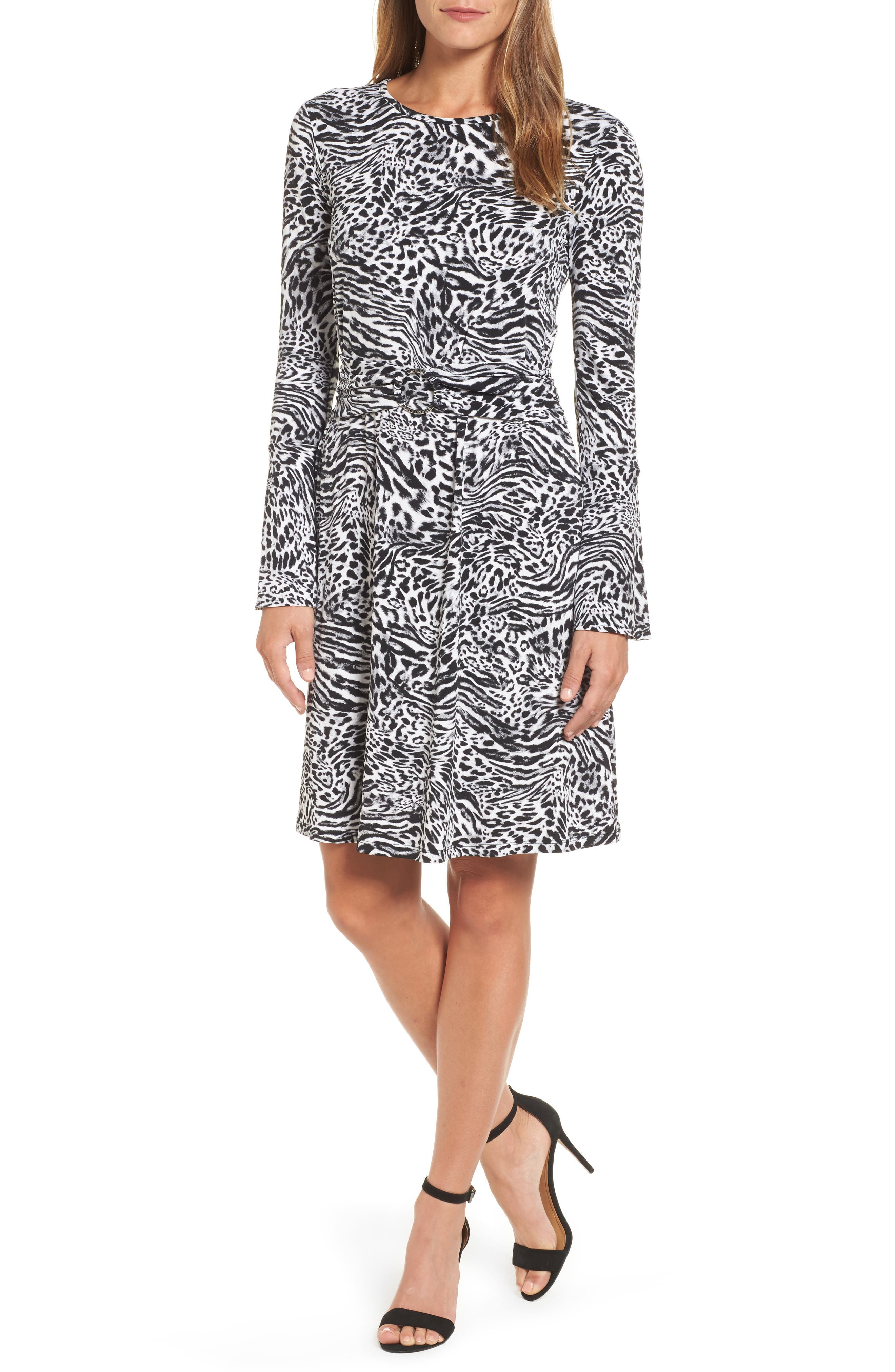 Alternate Image 1 Selected - MICHAEL Michael Kors Big Cat A-Line Dress