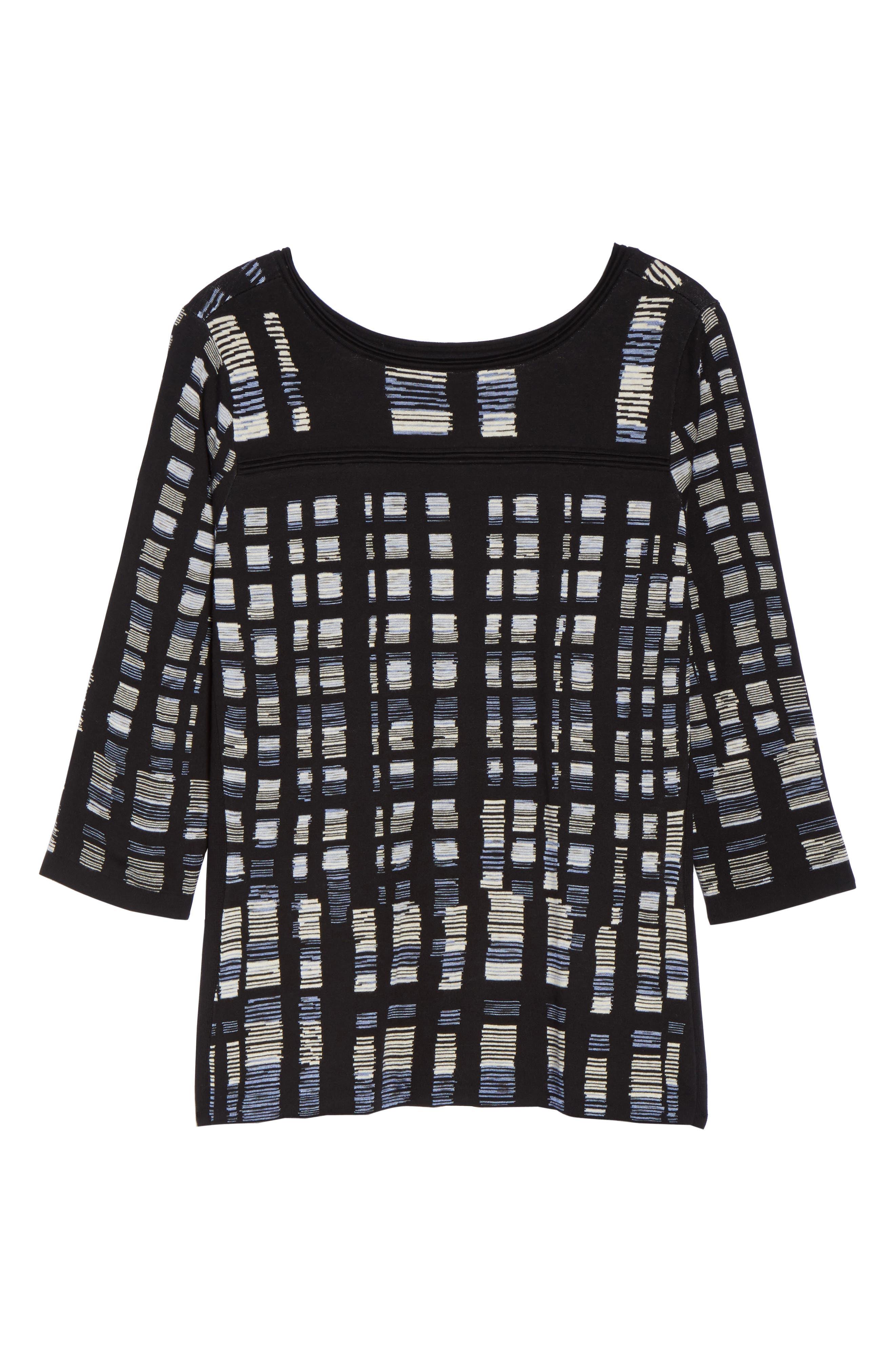 Crystal Cove Sweater,                             Alternate thumbnail 6, color,                             Black Multi