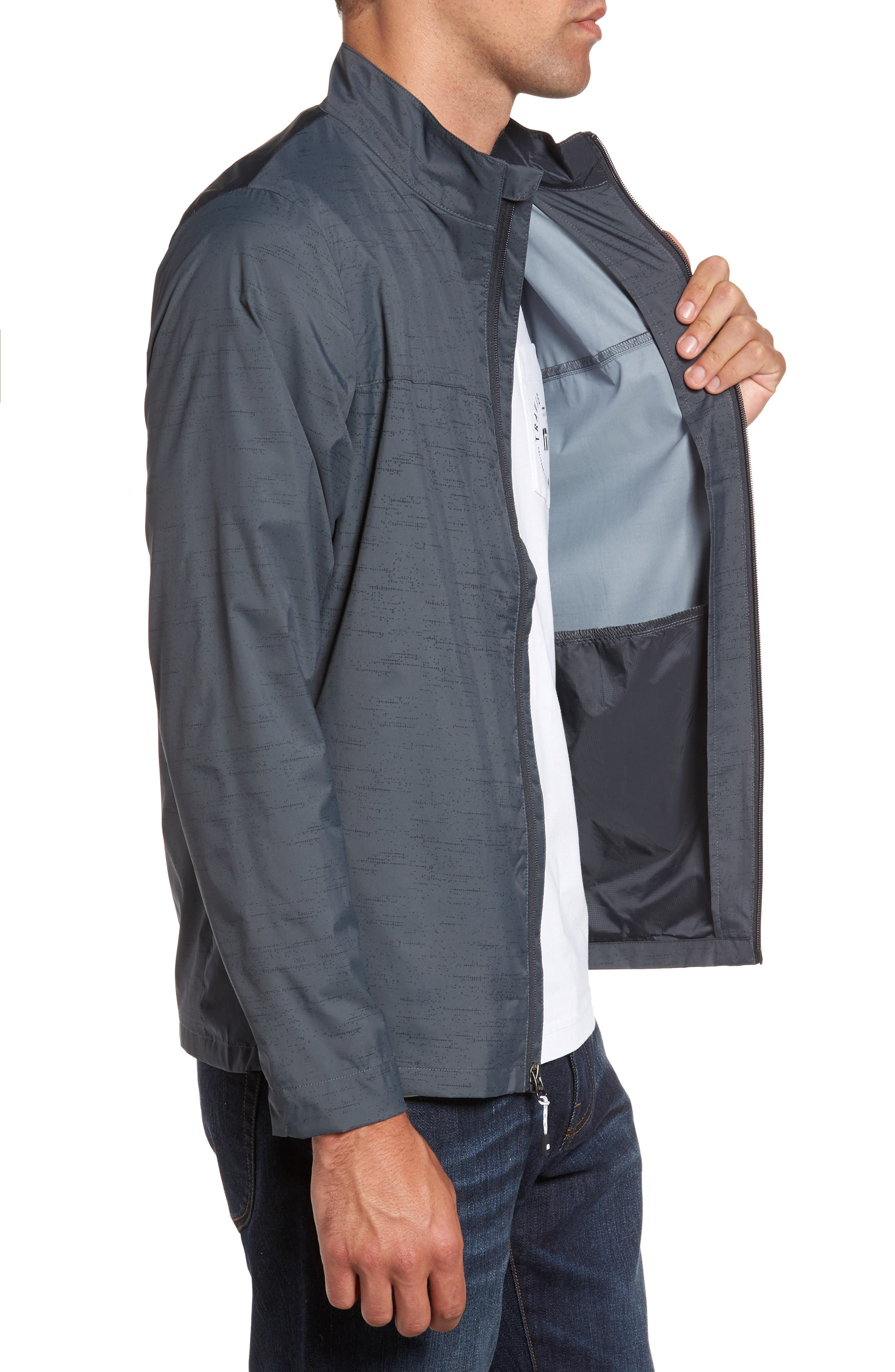 The Voyager Jacket,                             Alternate thumbnail 3, color,                             Grey Pinstripe