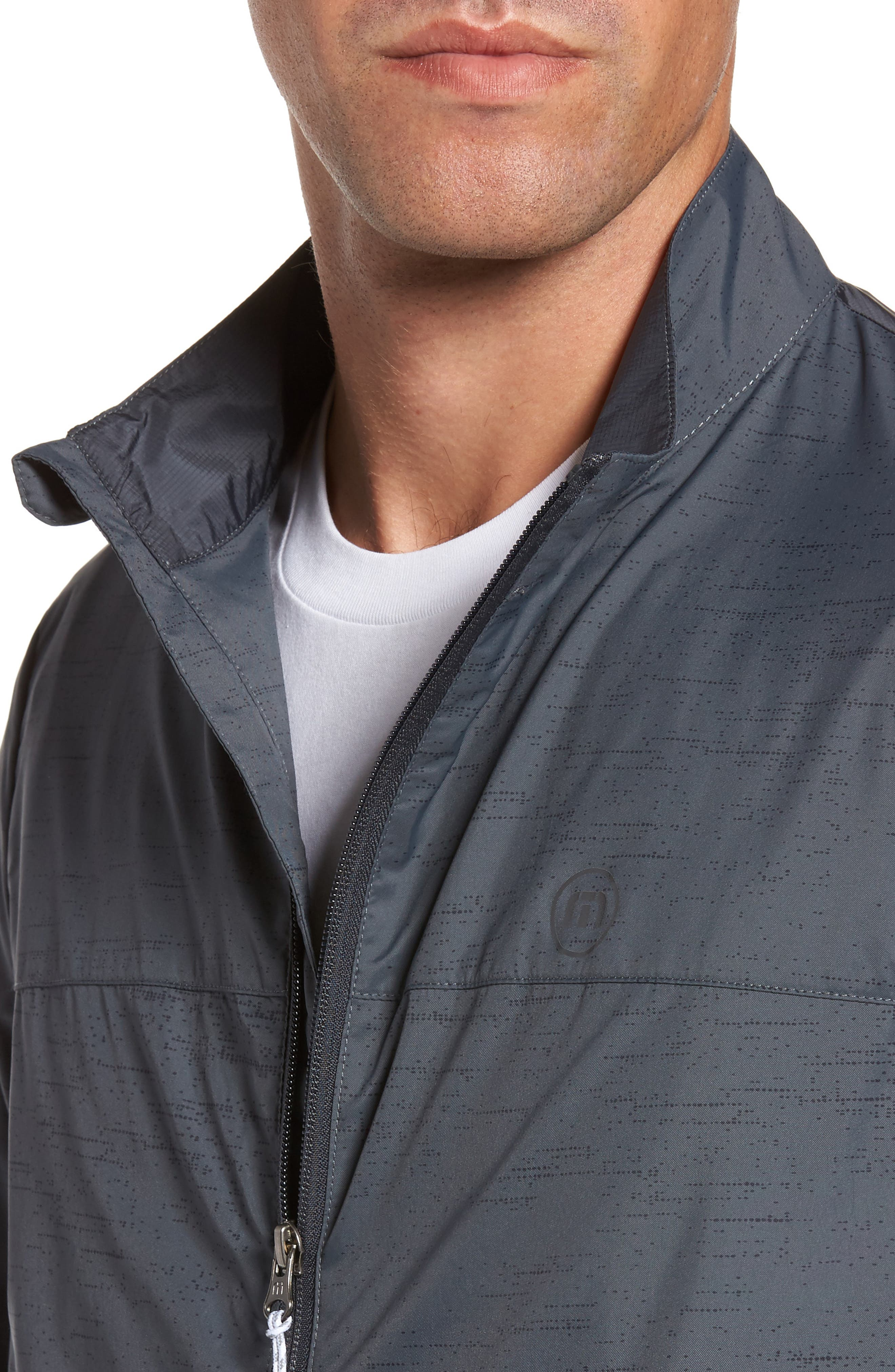 The Voyager Jacket,                             Alternate thumbnail 4, color,                             Grey Pinstripe