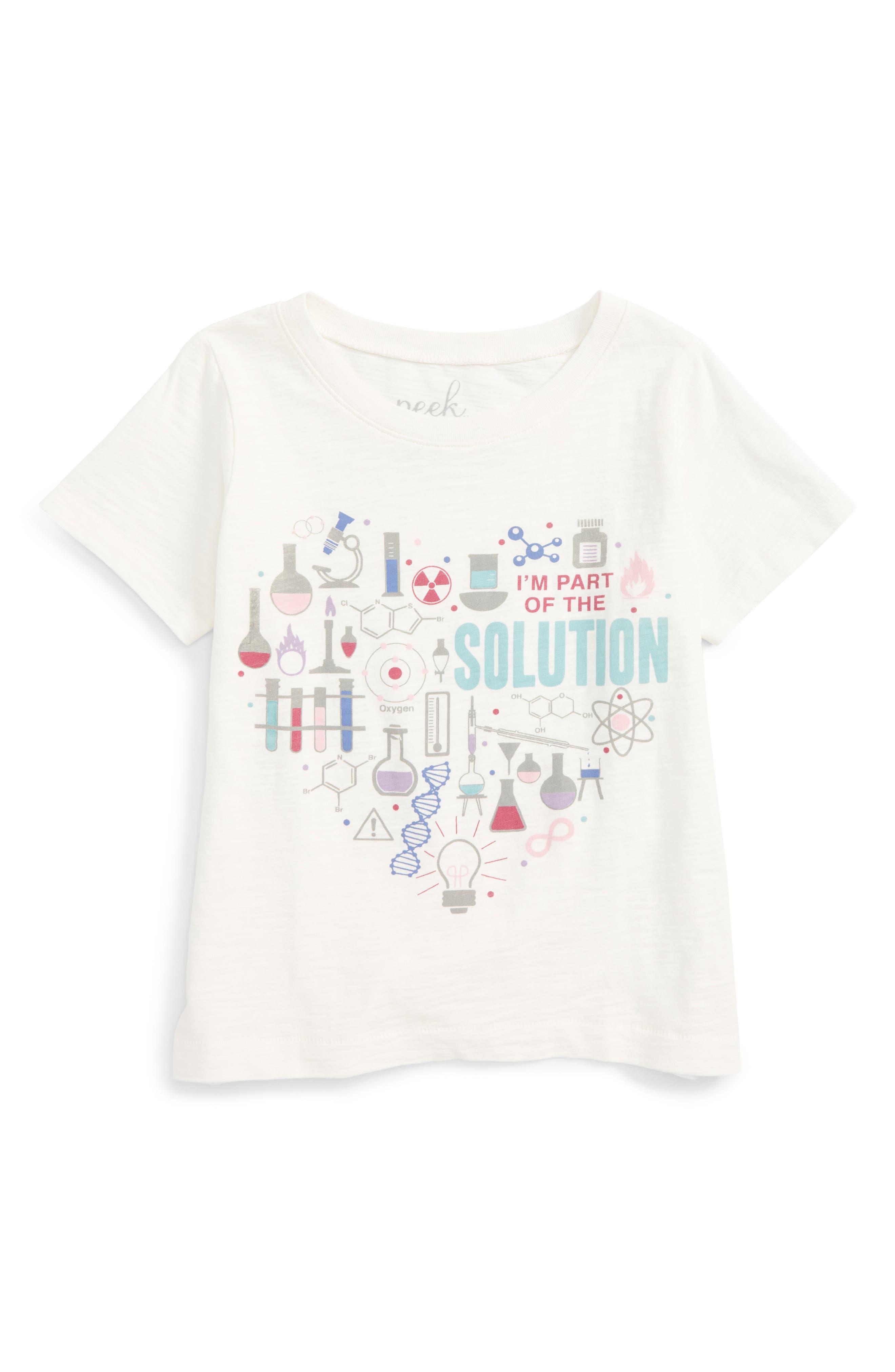 Alternate Image 1 Selected - Peek Solution Tee (Toddler Girls, Little Girls & Big Girls)