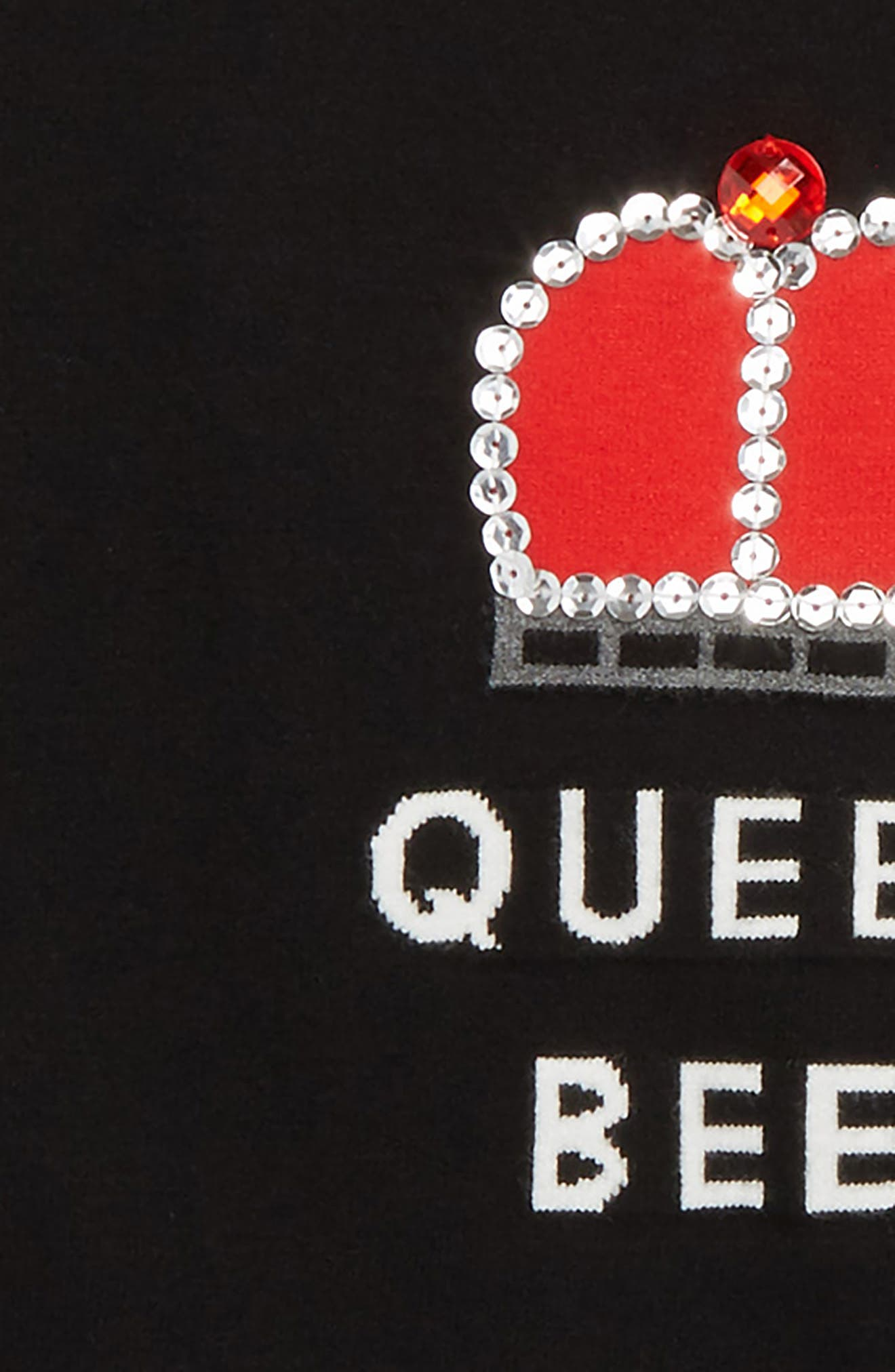 Queen Bee Embellished Pullover,                             Alternate thumbnail 2, color,                             Black