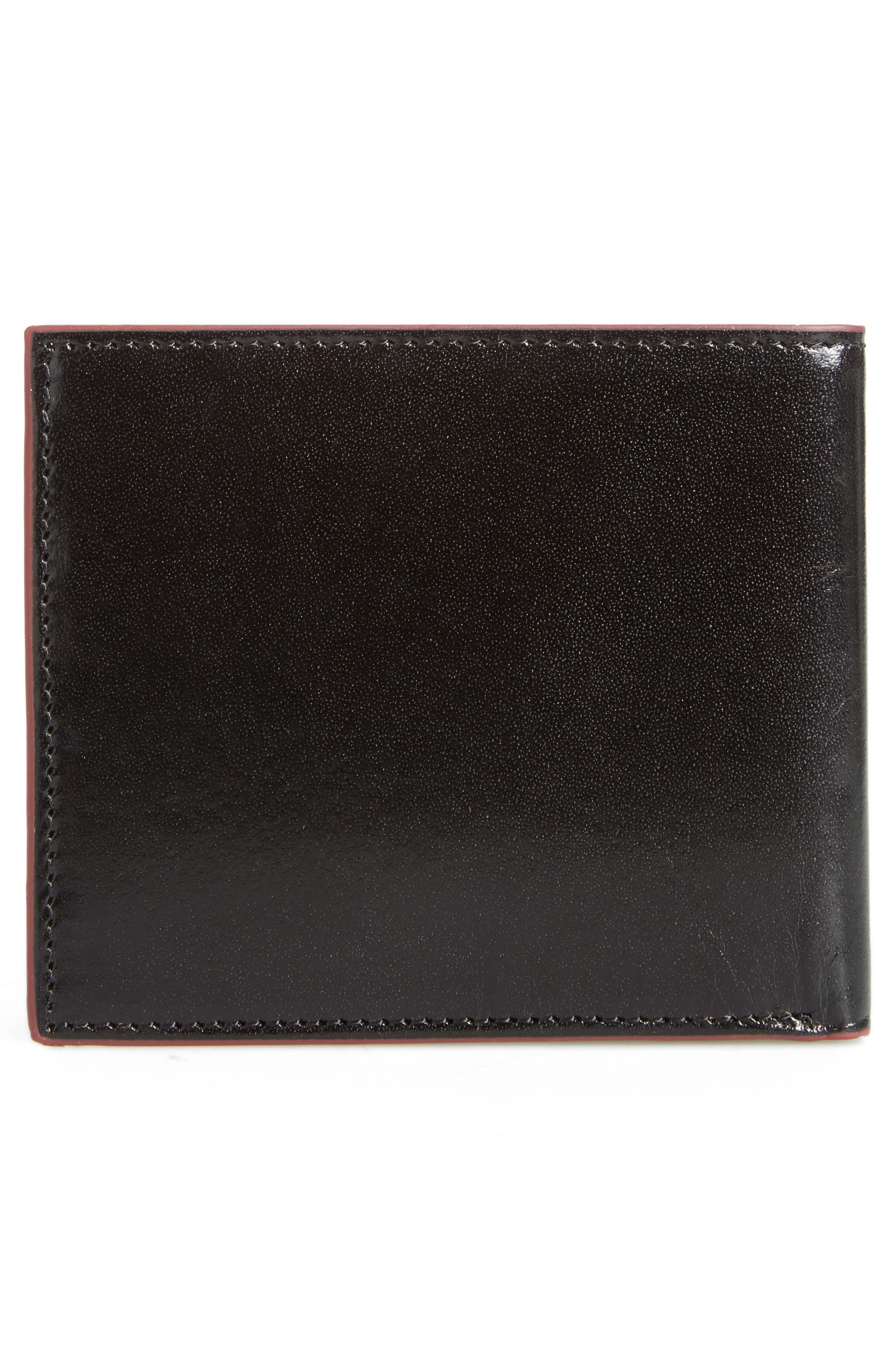 Loganz Leather Wallet,                             Alternate thumbnail 3, color,                             Black