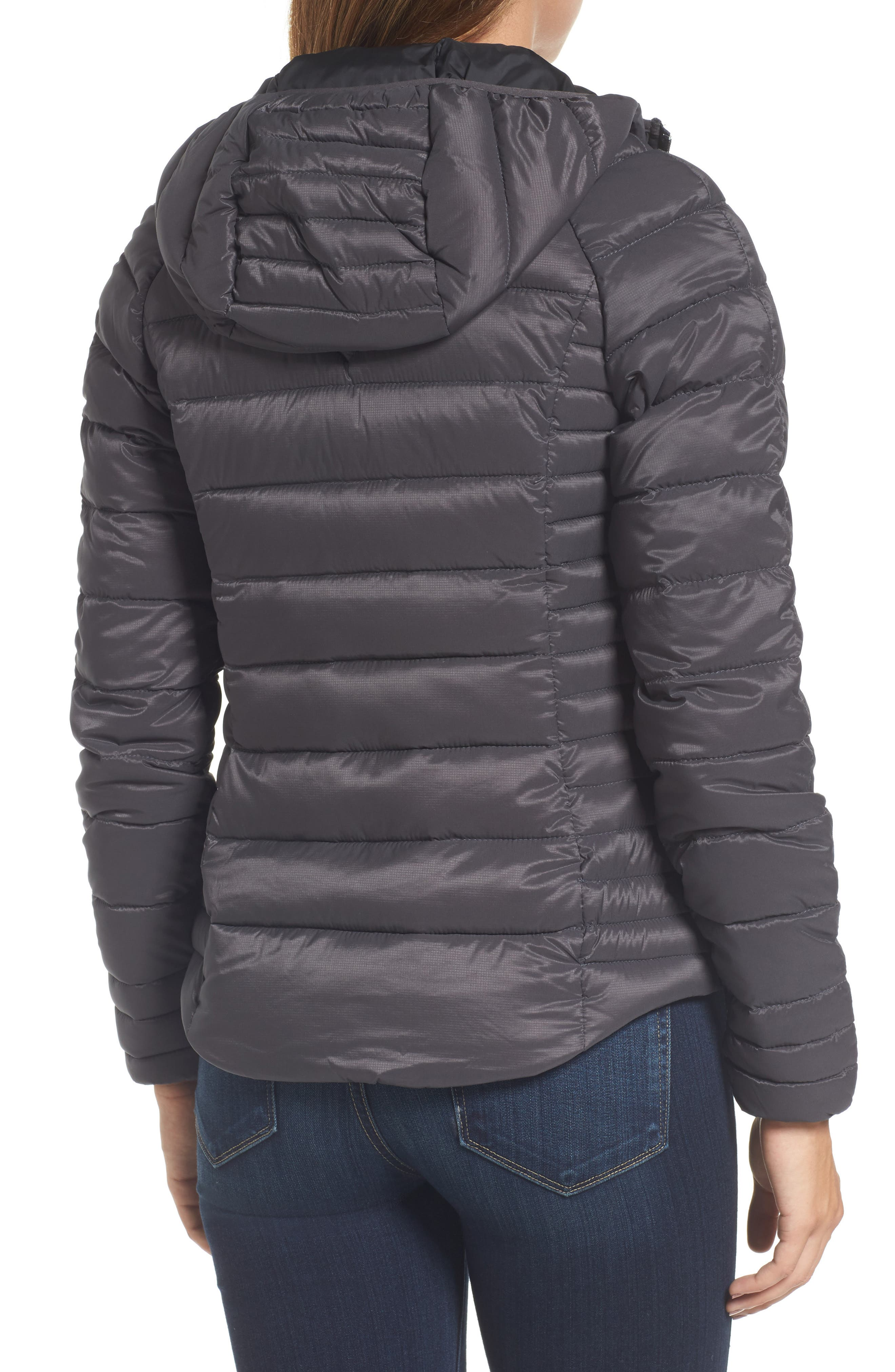 'Brookvale' Packable Hooded Quilted Down Jacket,                             Alternate thumbnail 2, color,                             Graphite/ Black