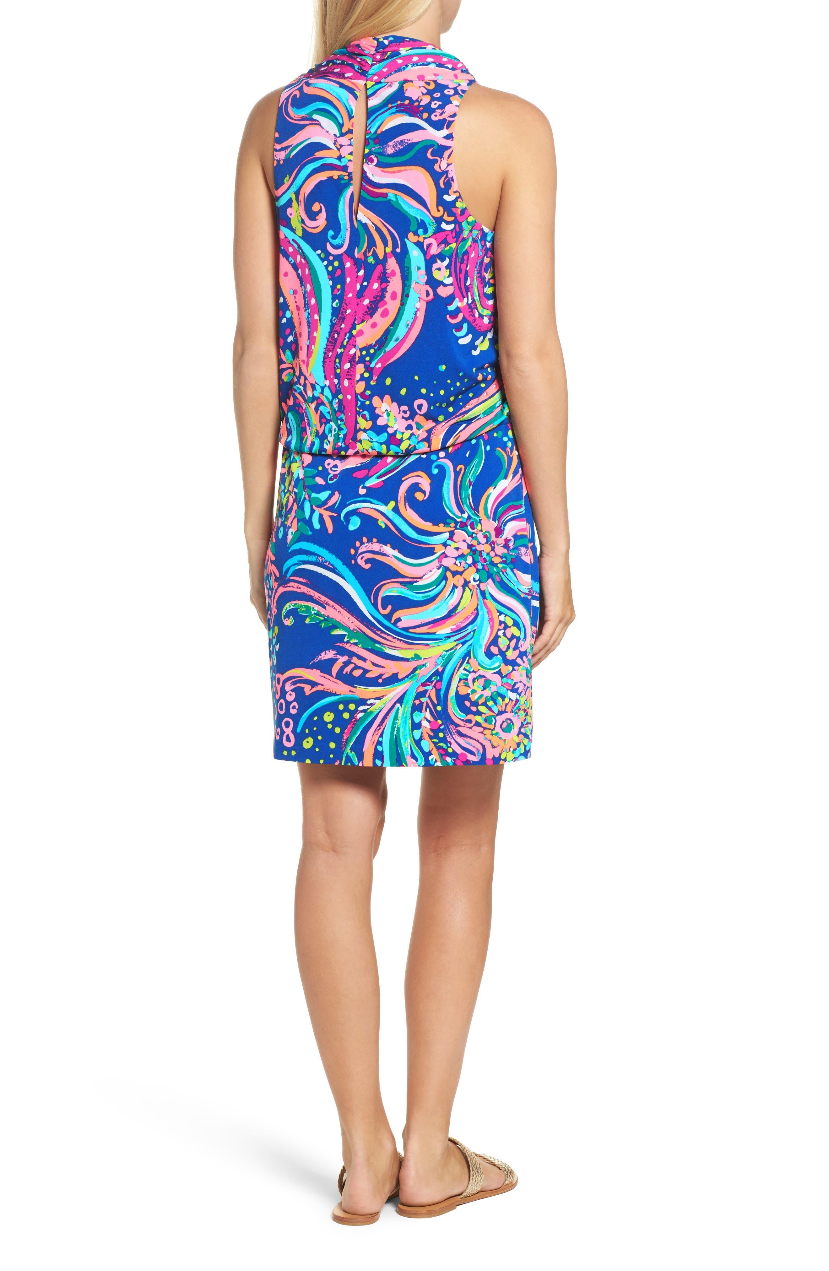 Felizia Blouson Dress,                             Alternate thumbnail 2, color,                             Multi Beach Loot