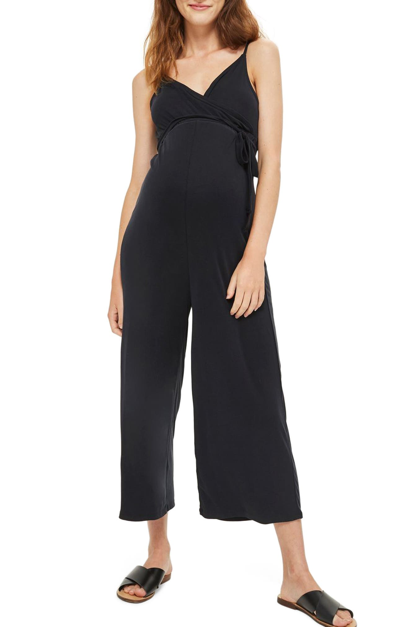 Topshop Ribbed Knit Maternity Jumpsuit