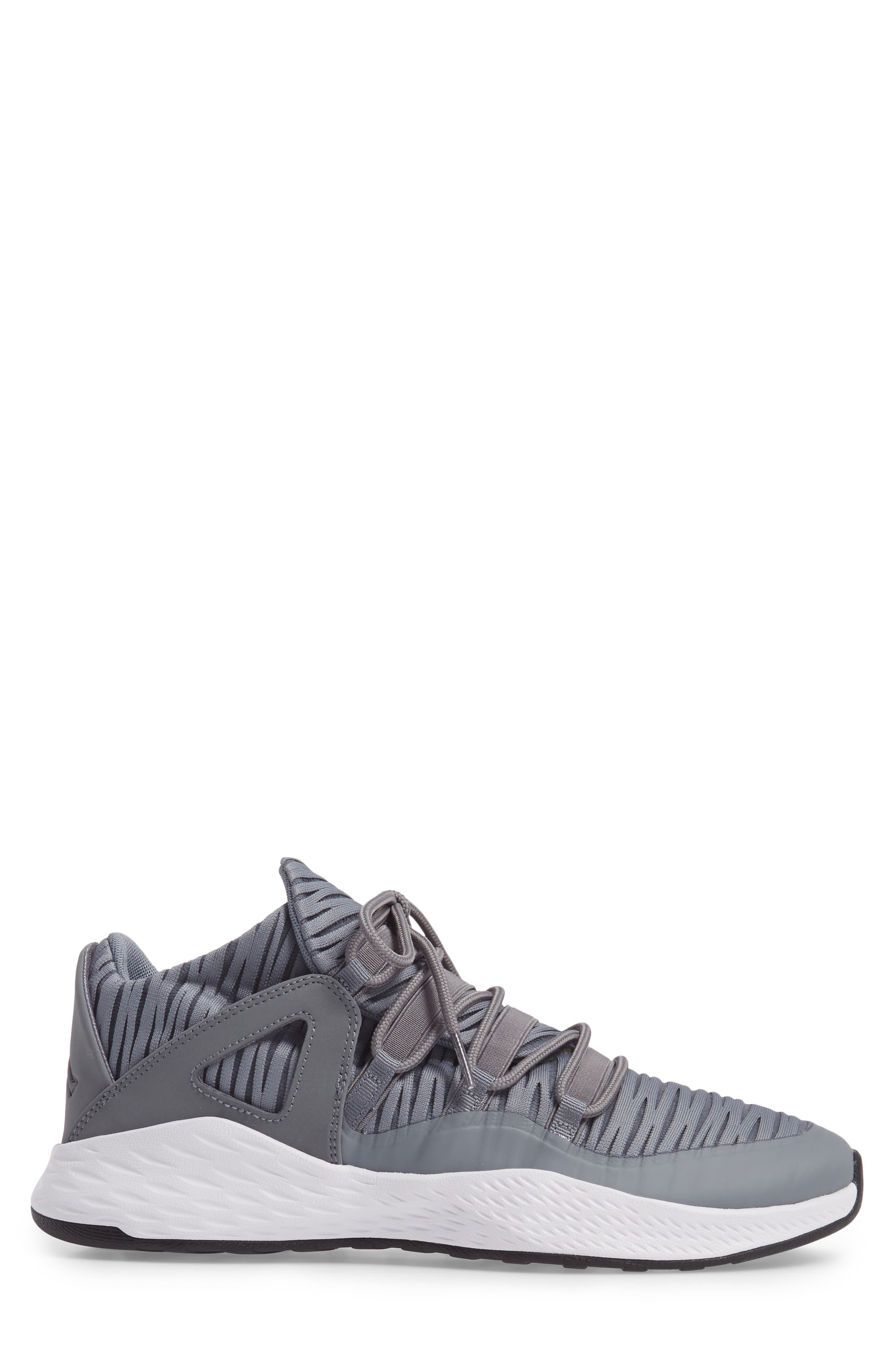 Jordan Formula 23 Low Sneaker,                             Alternate thumbnail 3, color,                             Cool Grey/ White/ Black