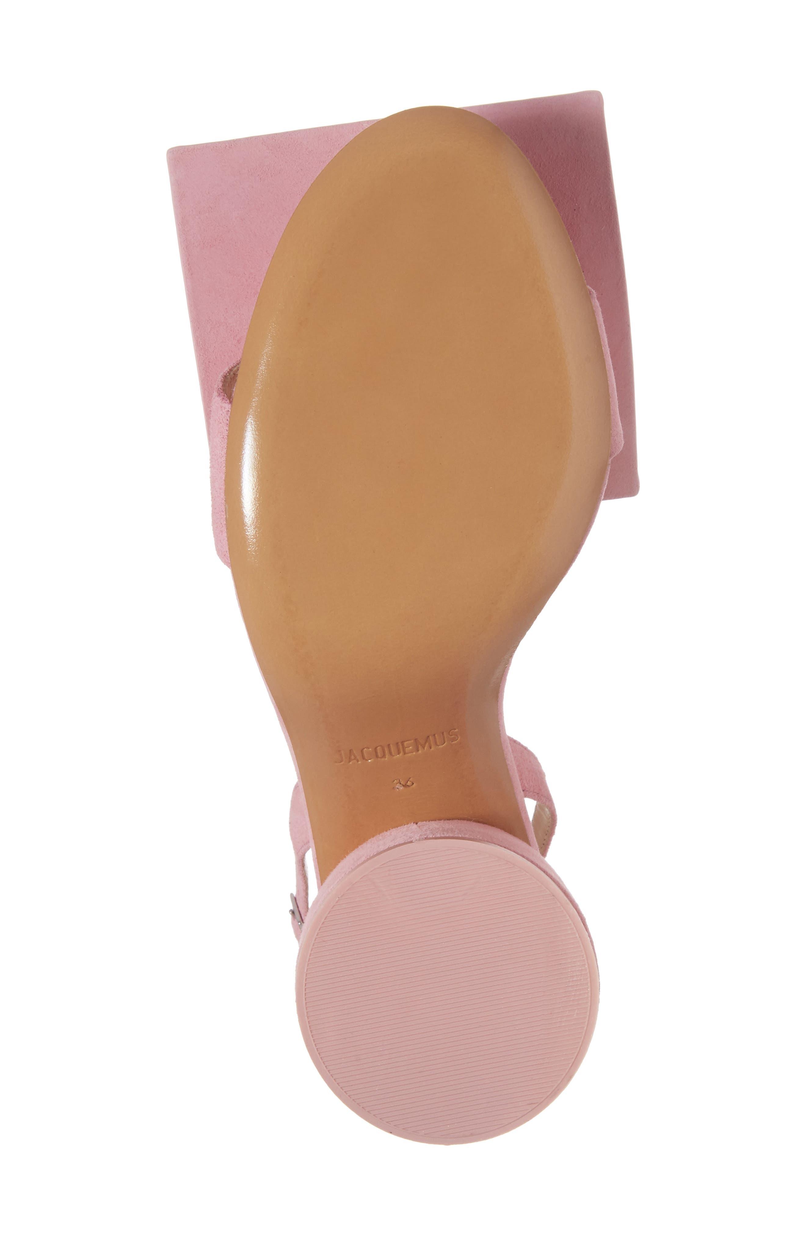 Les Rond Carré Suede Sandal,                             Alternate thumbnail 6, color,                             Pink