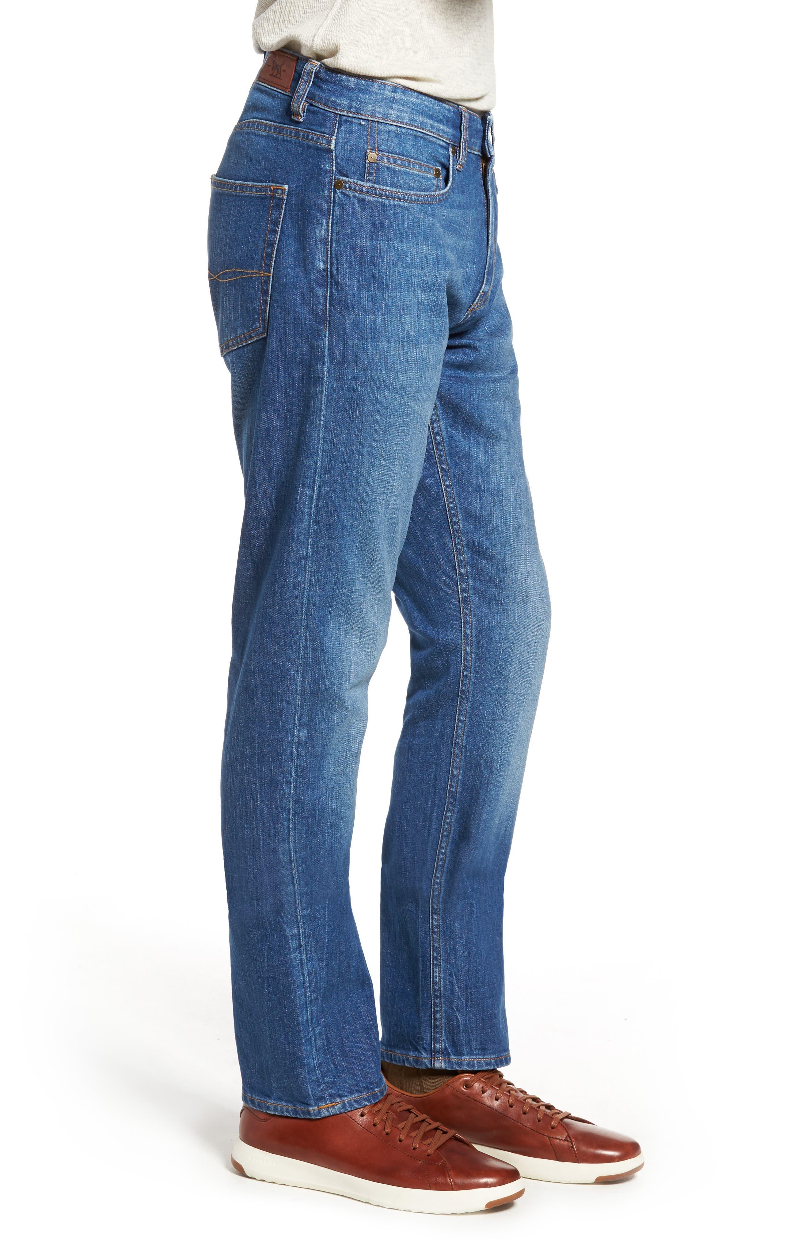 Cranfield Straight Leg Jeans,                             Alternate thumbnail 3, color,                             Denim