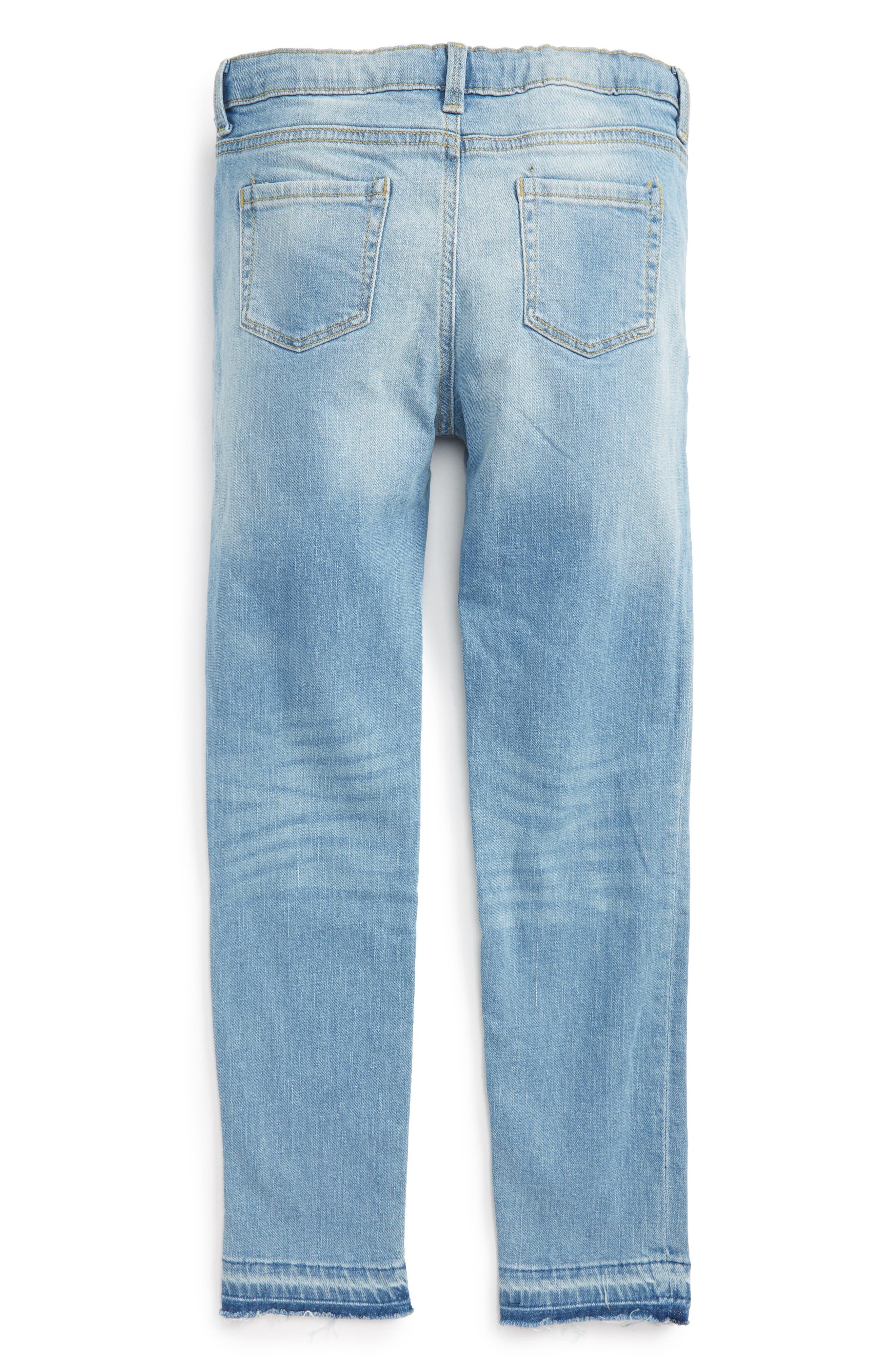 Alternate Image 2  - Peek Celeste Skinny Jeans (Toddler Girls, Little Girls & Big Girls)