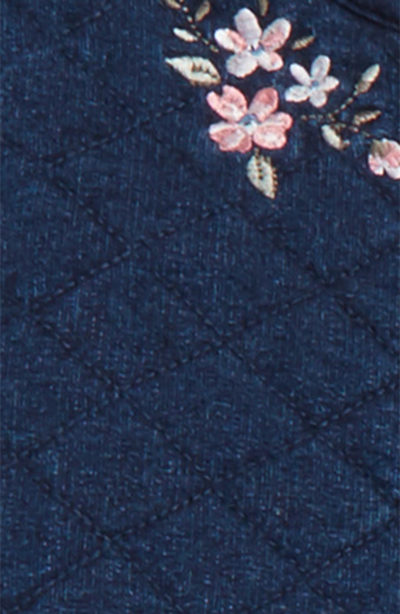 Alternate Image 2  - Little Me Embroidered Jacket, Tee & Leggings Set (Baby Girls)