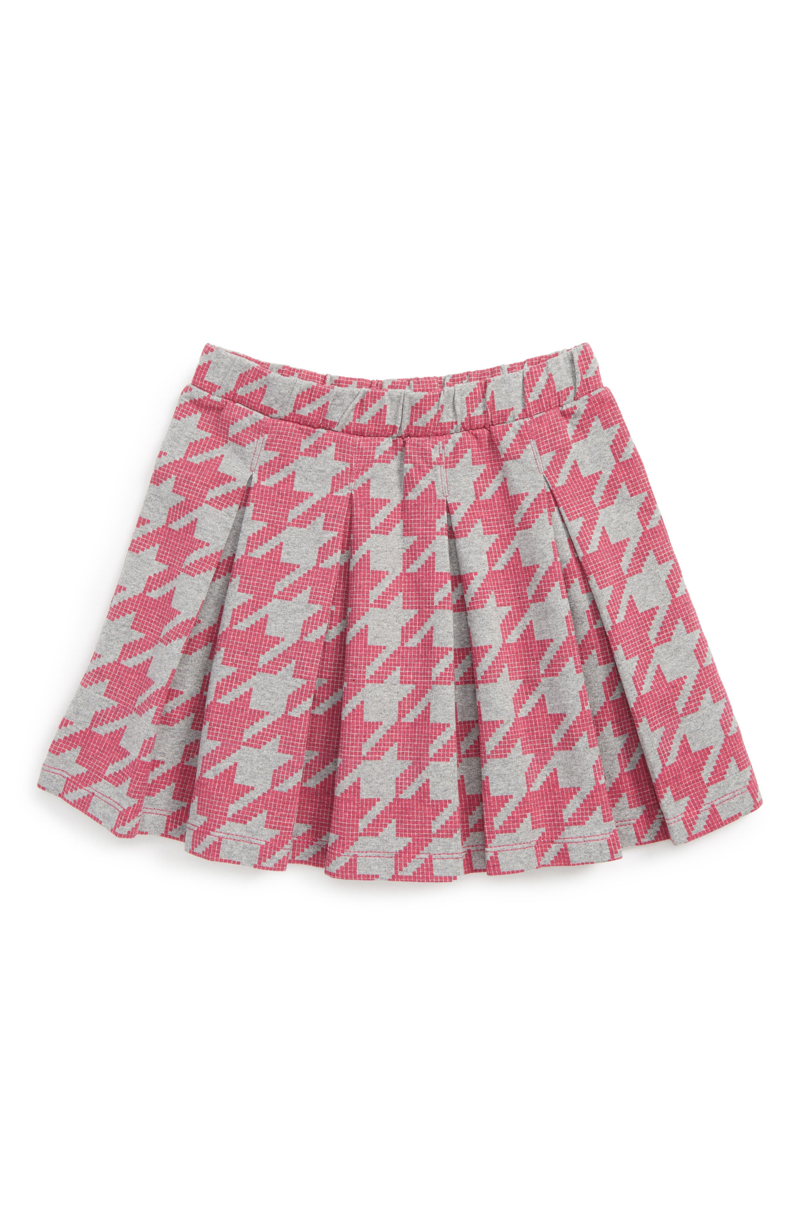 Houndstooth Skirt,                         Main,                         color, Pink