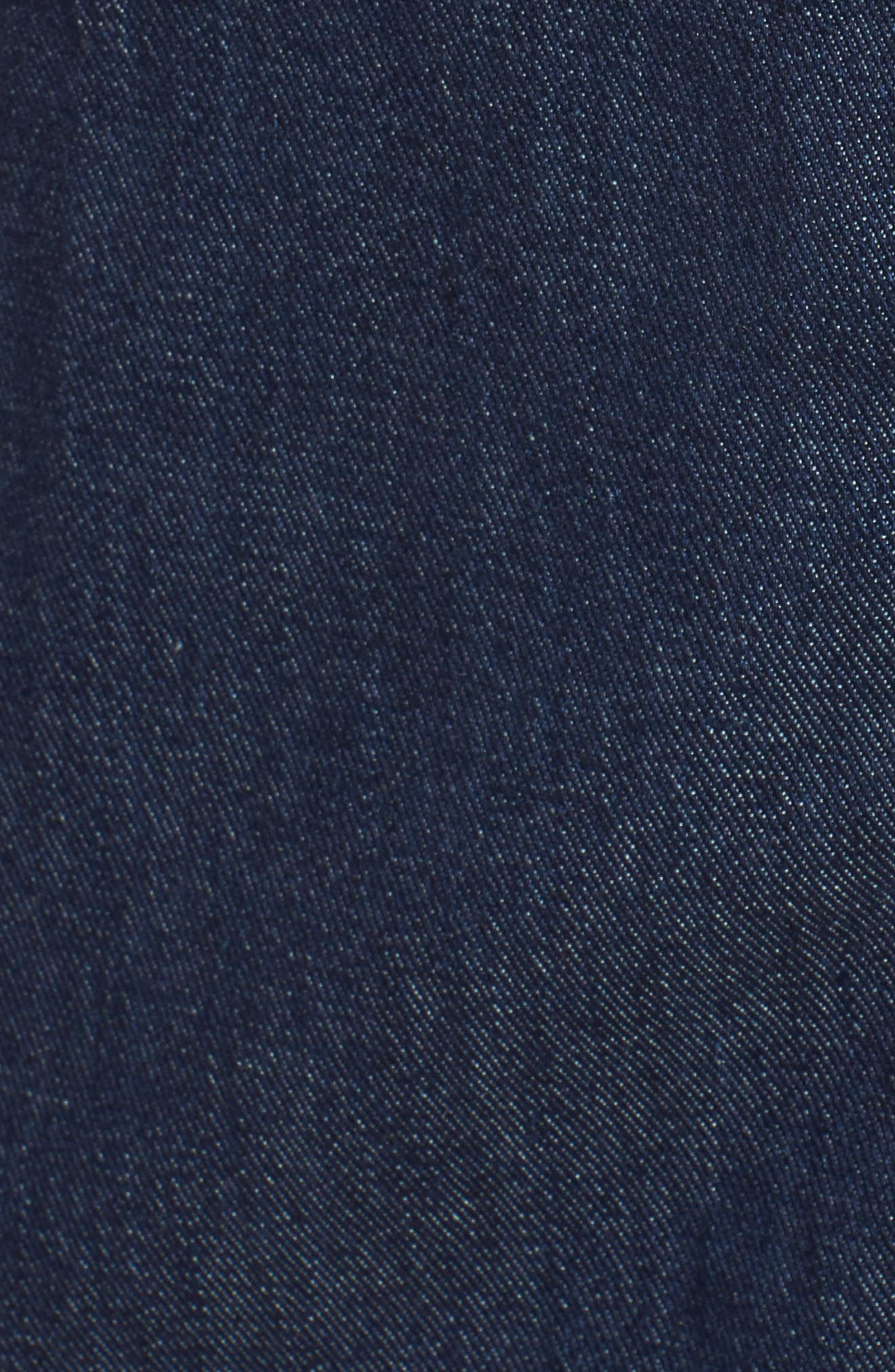 Denim Midi Dress,                             Alternate thumbnail 5, color,                             Nightfall