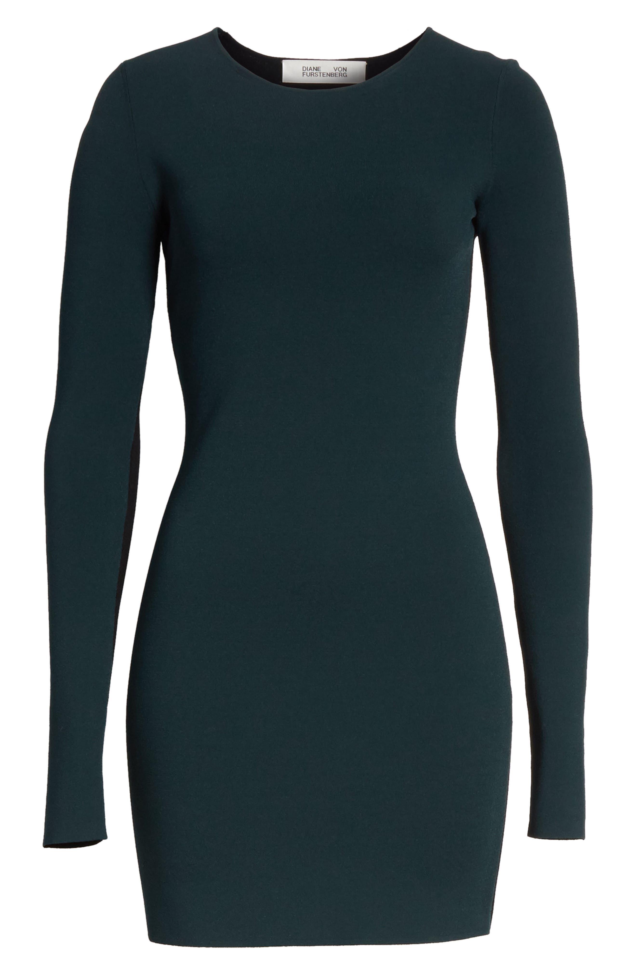 Alternate Image 6  - Diane von Furstenberg Long Sleeve Minidress