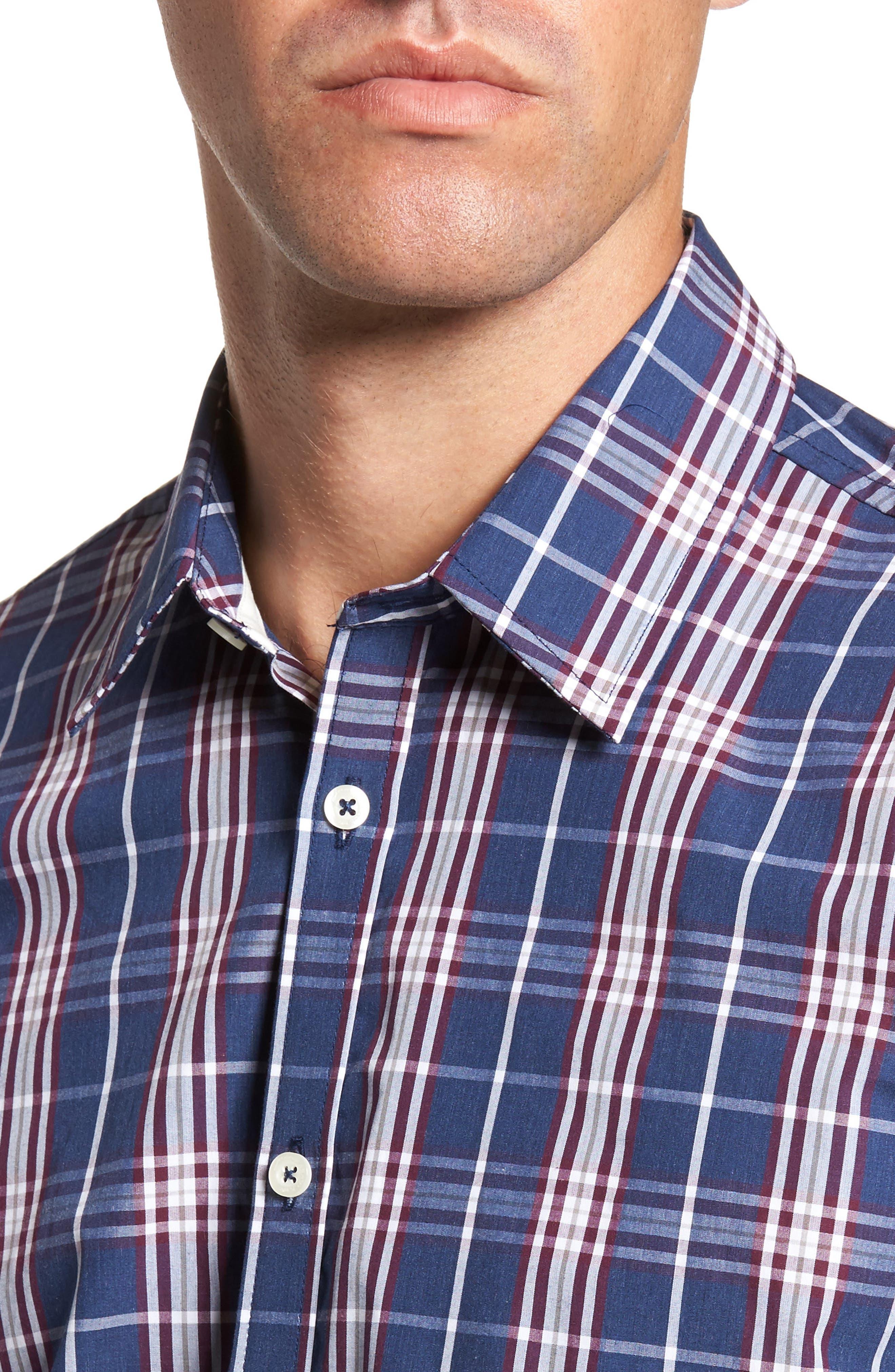 Alternate Image 4  - Jeremy Argyle Comfort Fit Plaid Sport Shirt