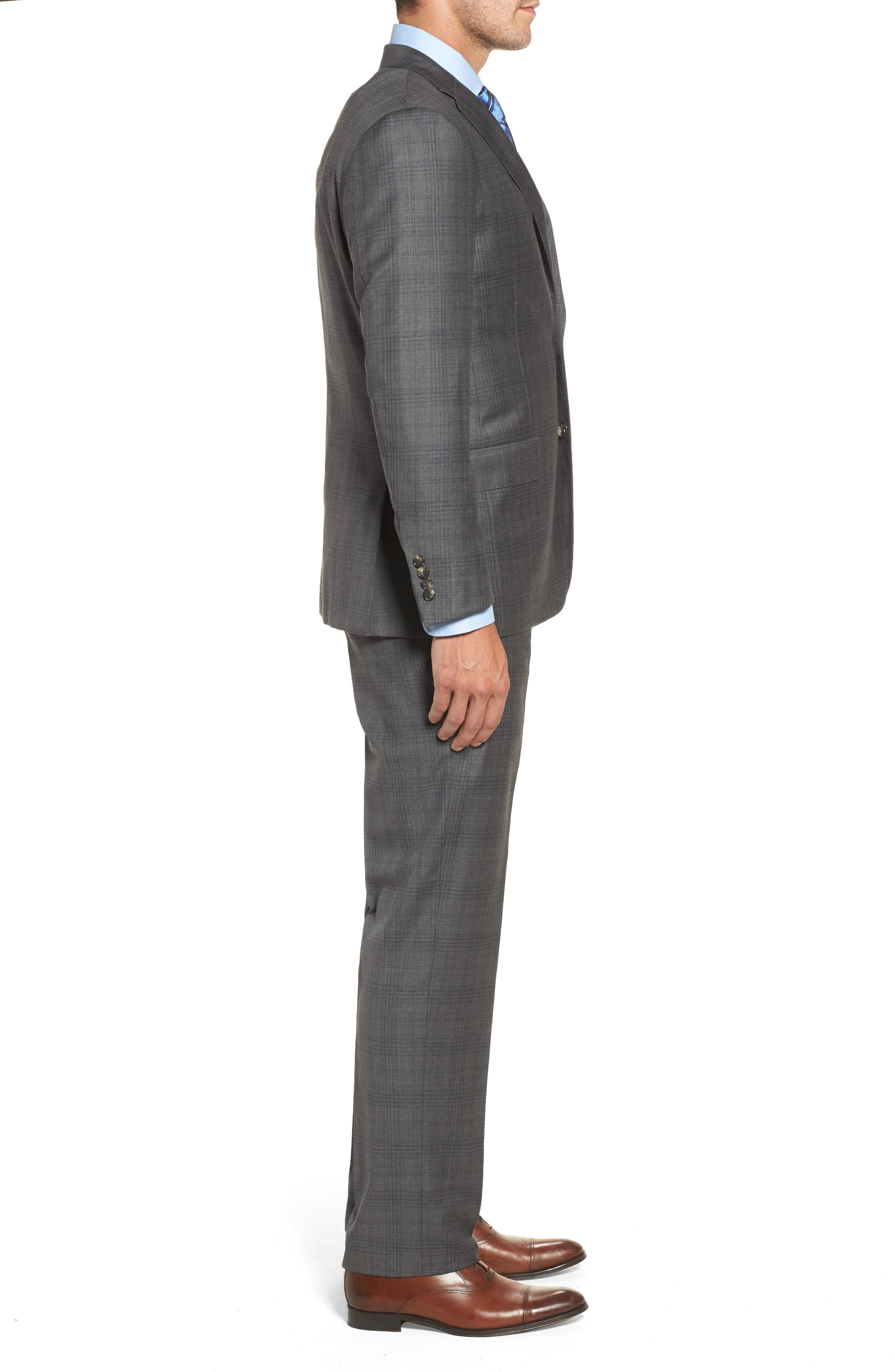 Alternate Image 3  - Hickey Freeman Classic B Fit Plaid Wool Suit