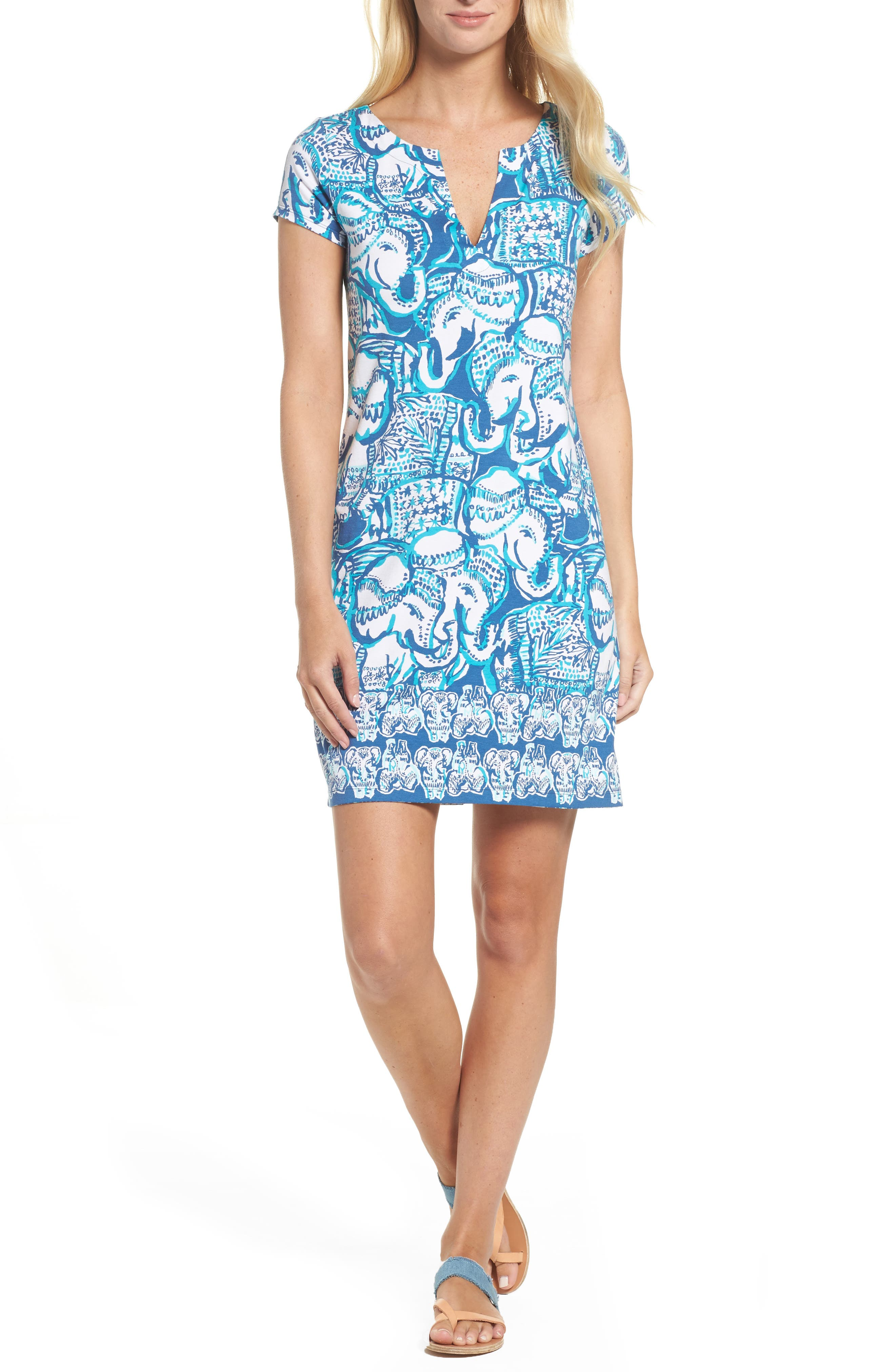 Sophiletta UPF 50+ Dress,                             Main thumbnail 1, color,                             Indigo